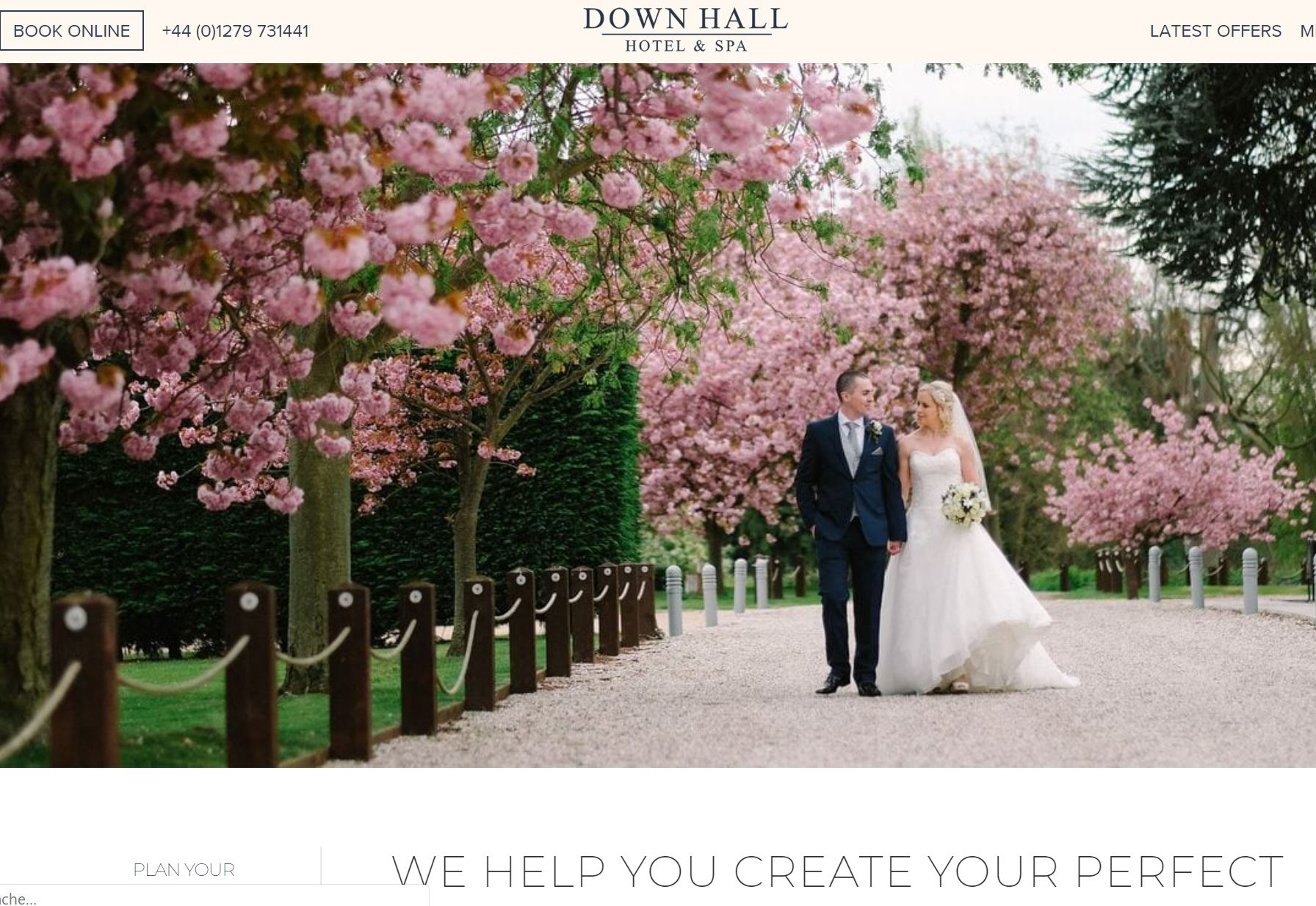 Down Hall - Situated in the breathtaking beauty of the Hertfordshire/Essex countryside, providing an exquisite backdrop for your special day, both as a reception venue and as a Civil ceremony venue.