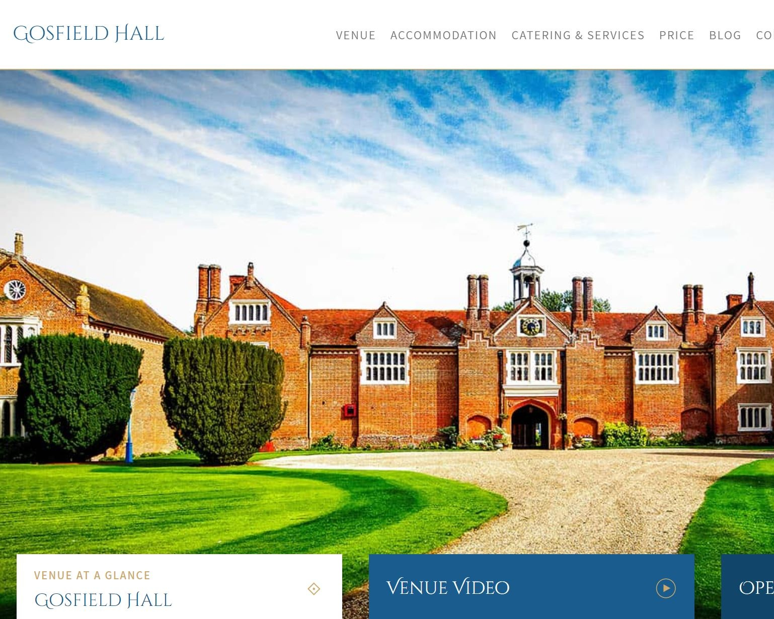 Gosfield Hall - A former palace that allows you to follow in the footsteps of royalty on your special day. A stunning Georgian mansion set in 10 acres of manicured grounds and parkland, with a ballroom, reception rooms and bridal suite to rival them all.