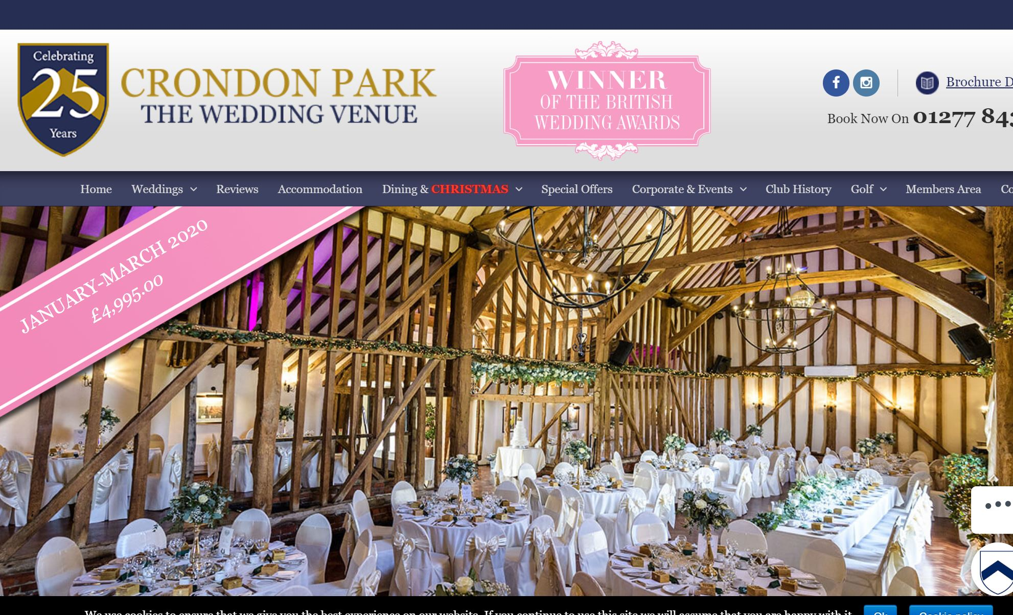 Crondon Park - Beautiful wedding venue in the heart of Essex, staff are welcoming, friendly, organised and professional with an eye for detail. The venue features its own luxurious Bridal Suite, situated in its own detached cottage, in a totally secluded location.