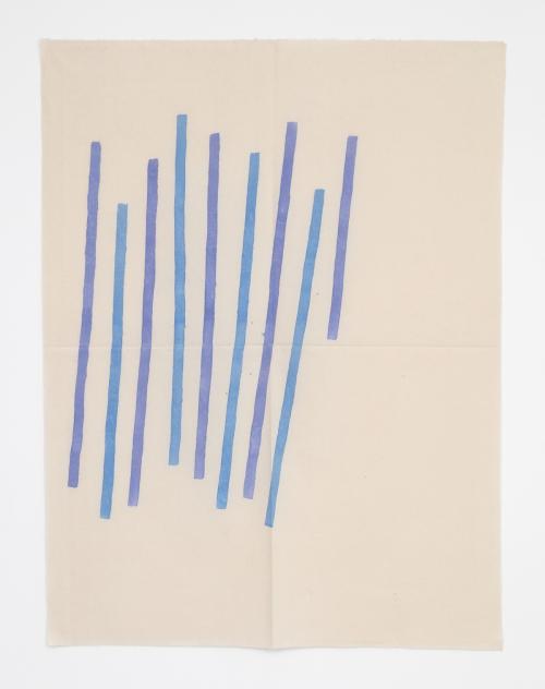 "Giorgio Griffa, Obliquo, 1979, Acrylic on canvas, 61 x 46.5"" / 155 x 118cm, Photo: Jean Vong, Courtesy the artist and Casey Kaplan, New York"