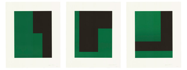 Verde y Negro , 2017. Portfolio of three lithographs, 21 1/4 × 17 1/2 in, 54 × 44.5 cm, Edition of 20