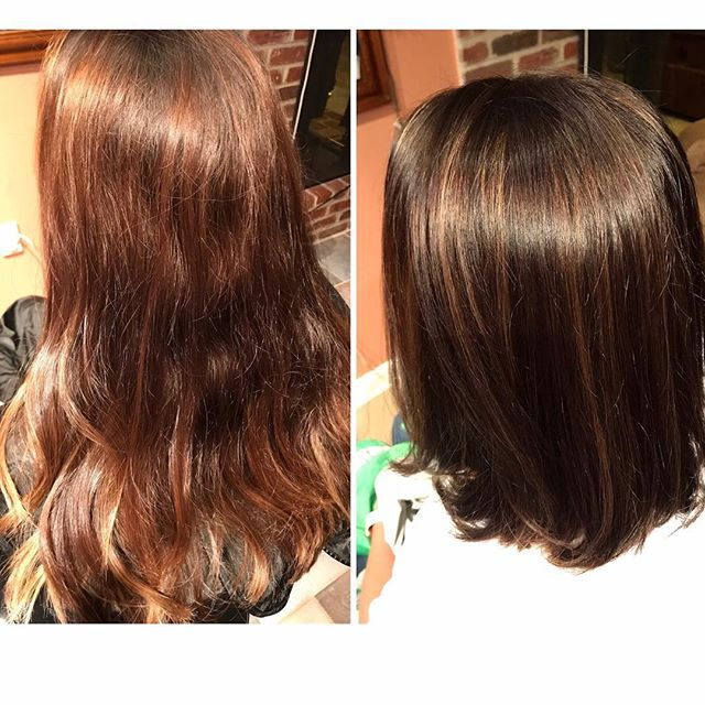 Before and after Hair by Lori