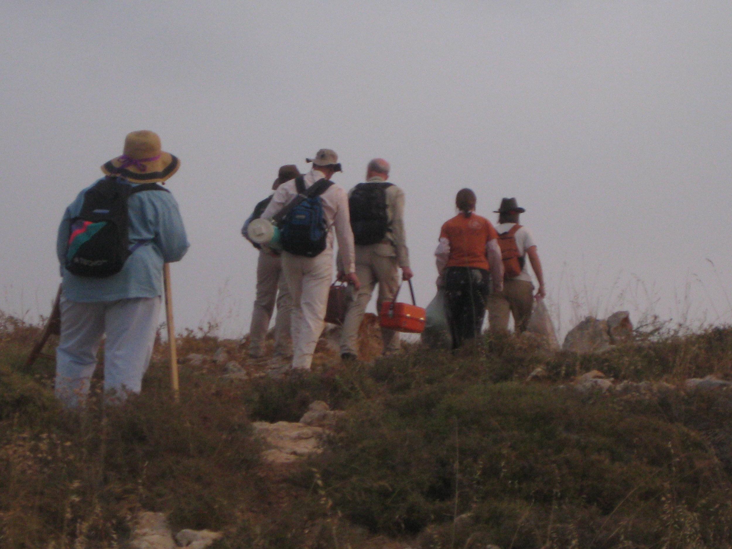 Dig site of Khirbet el-Maqatir, Palestinian West Bank—just over the hill. (2010)
