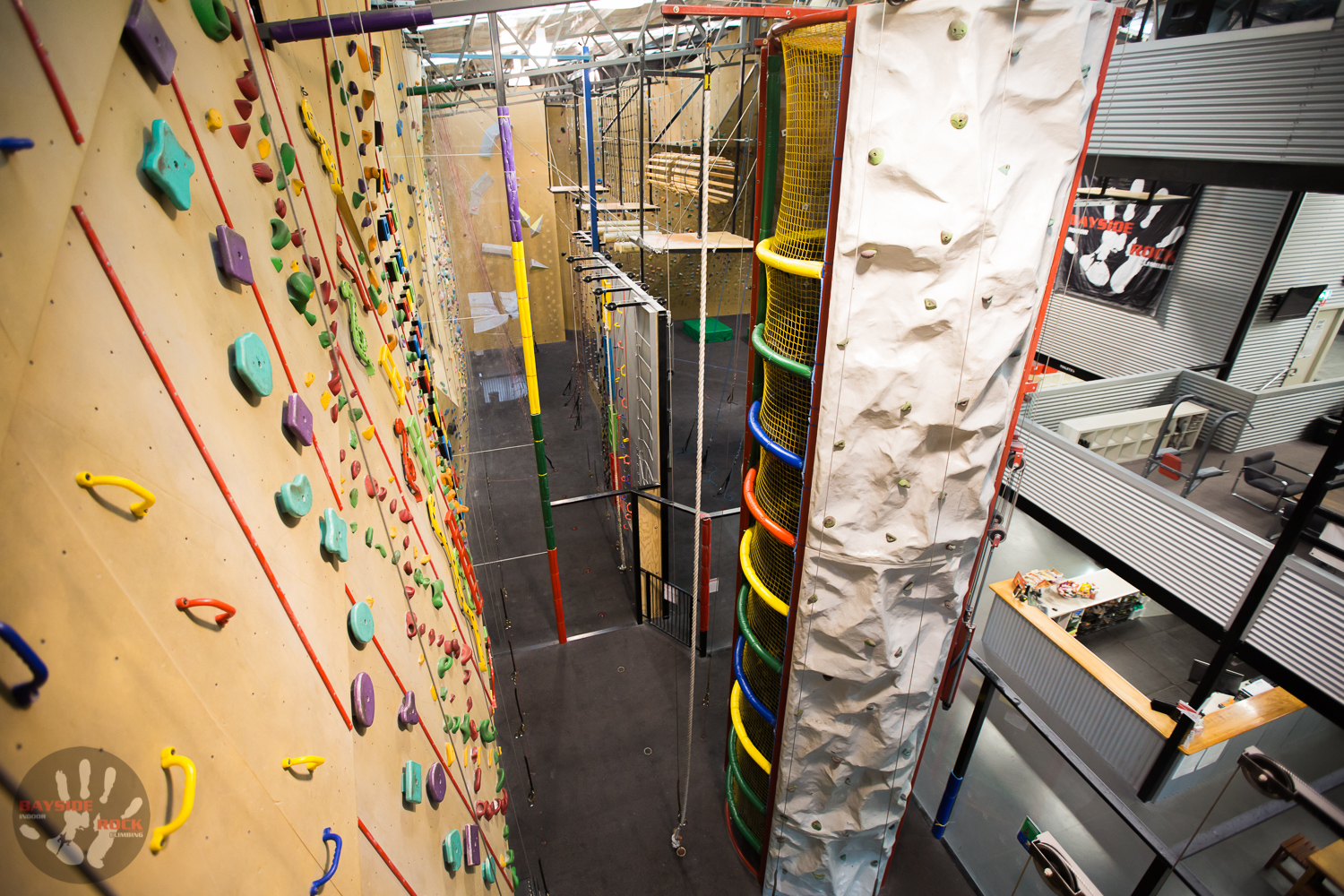 25 Climbing stations with plenty of challenges.