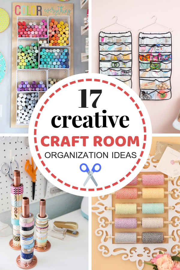 Creative organization ideas for your craft room! They will help to keep your craft supplies nice and organized.