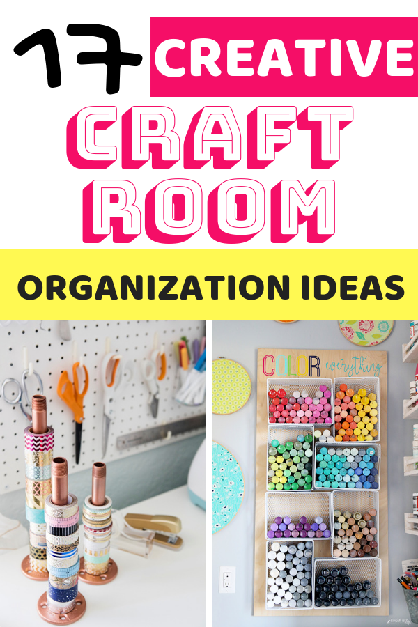 Organization ideas for the craft room that you've always wanted. These ideas are budget-friendly and easy to DIY!