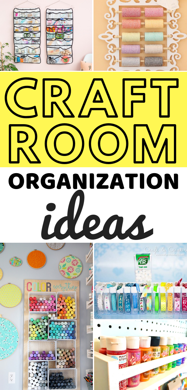 Craft room organization ideas that will inspire you to have the craft room of your dreams!