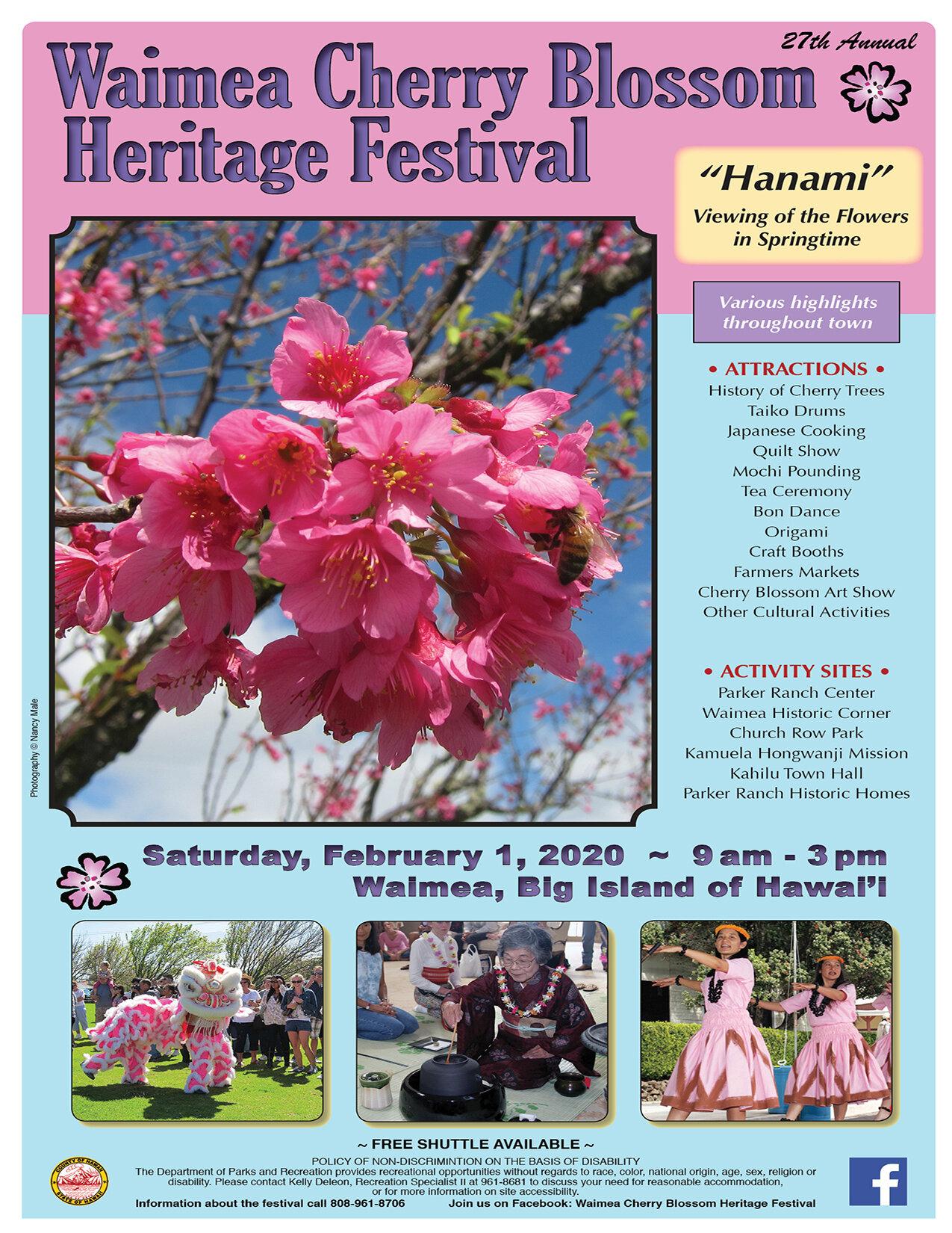 Waimea Christmas Parade 2020 Waimea Cherry Blossom Heritage Festival — Waimea Community Association