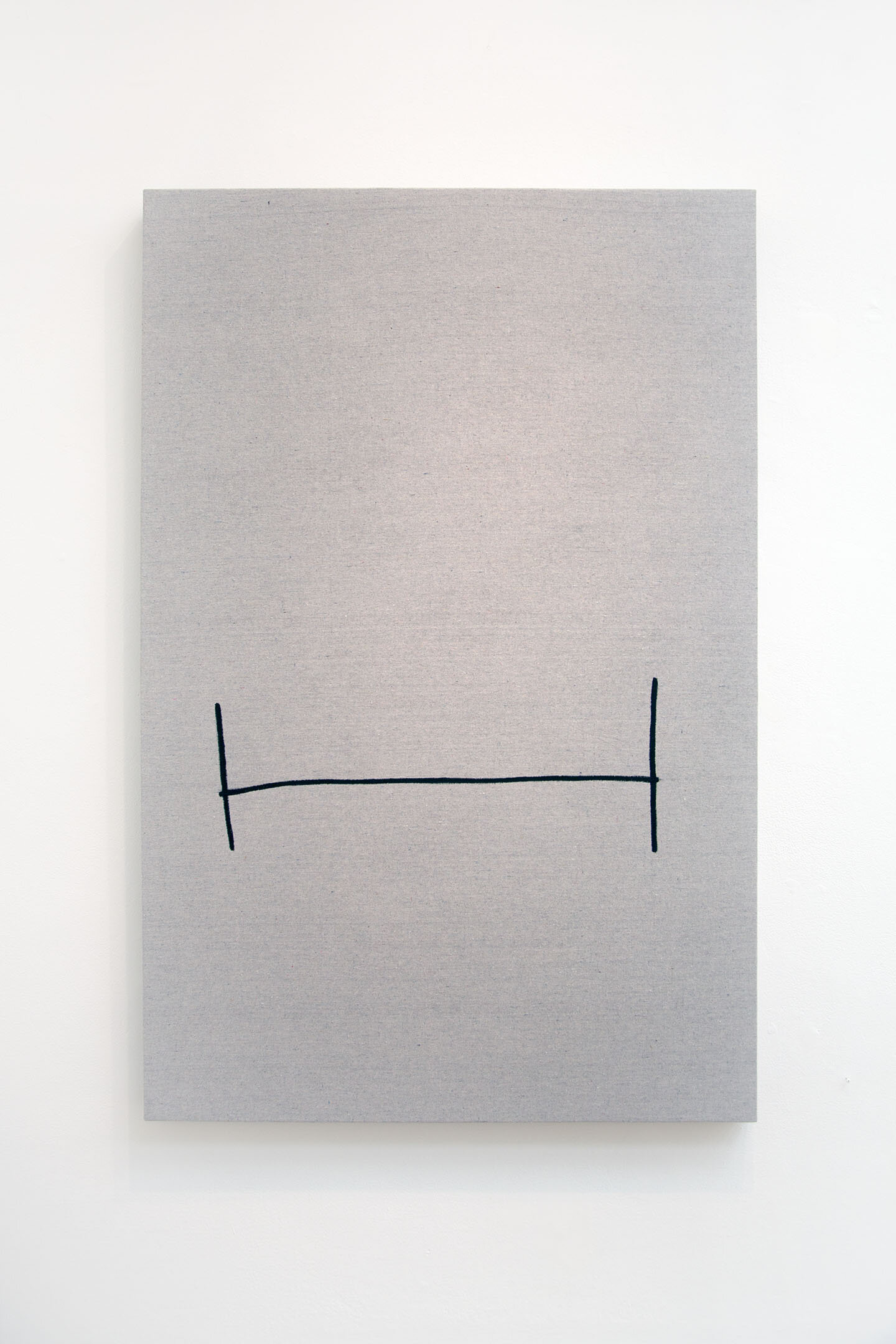 H (Sideways I) , 2019, latex on canvas over panel, 48 x 32 inches.