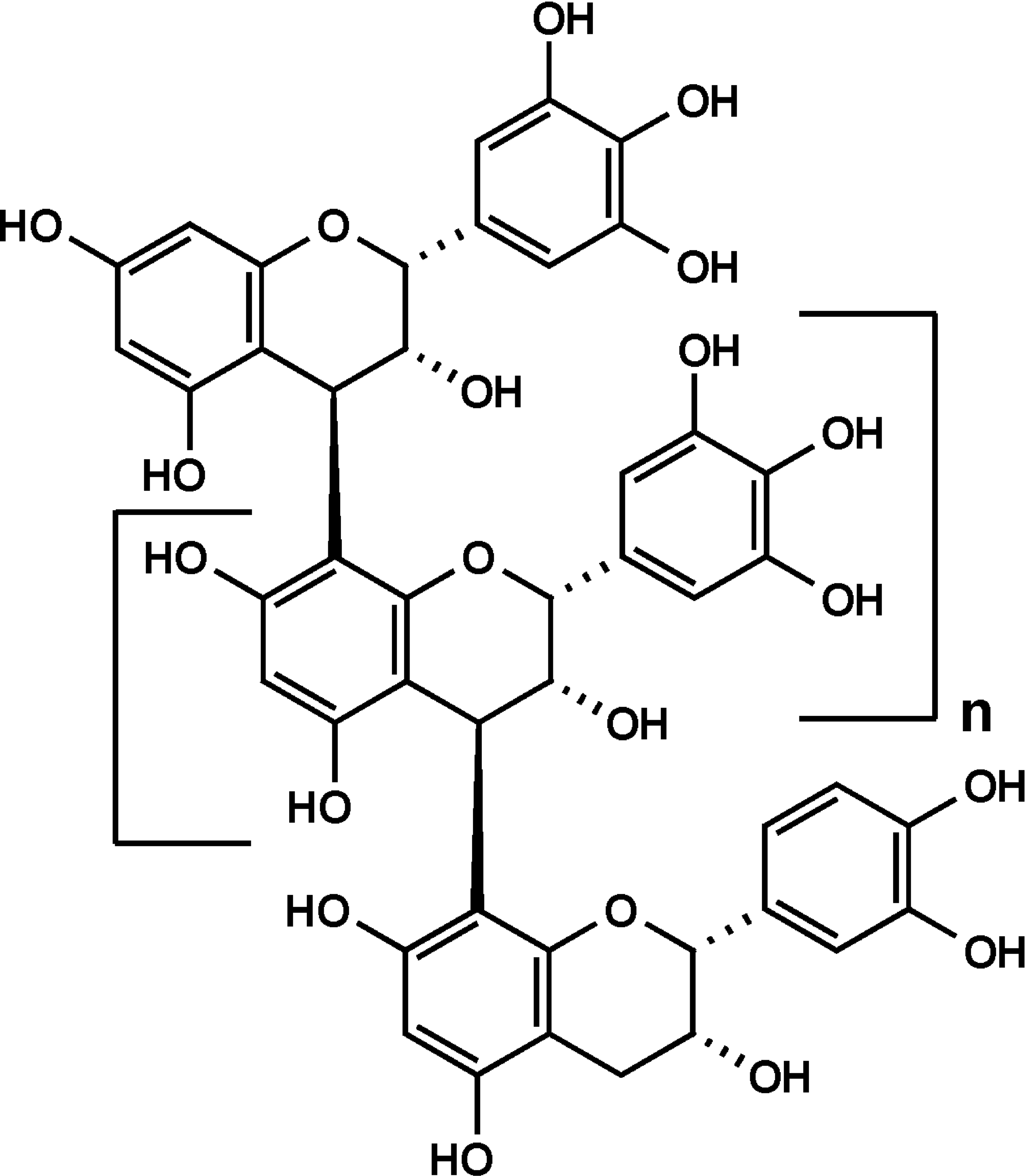 Chemical Structure of Prodelphinidin