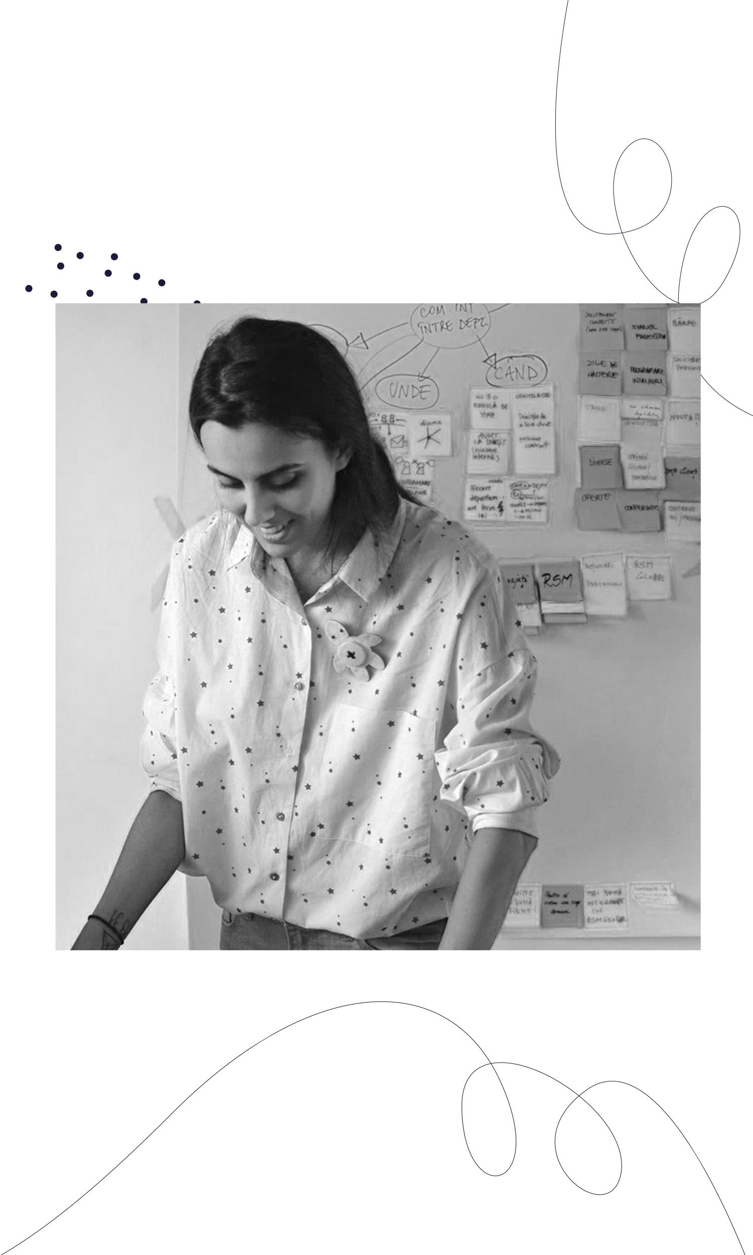 Andreea Nitoi - Andreea Nitoi este consultant in branding si facilitator de gandire creativa; in ultimii ani, a facilitat peste 150 de sesiuni de creative-problem-solving, design thinking si brand thinking pentru proiecte antreprenoriale, companii multinationale, si organizatii non-profit. Andreea este co-fondatorul Asociatiei Crea-Est, alaturi de care organizeaza conferinta Rebranding Creativity — prima conferinta de creativitate aplicata din Romania.