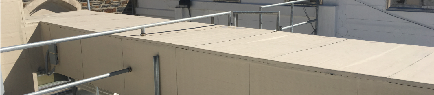 COLOR OPTIONS ALLOW FLEXCLAD TO BLEND INTO THE STRUCTURE'S COLOR SCHEME FOR A NEAT APPEARANCE