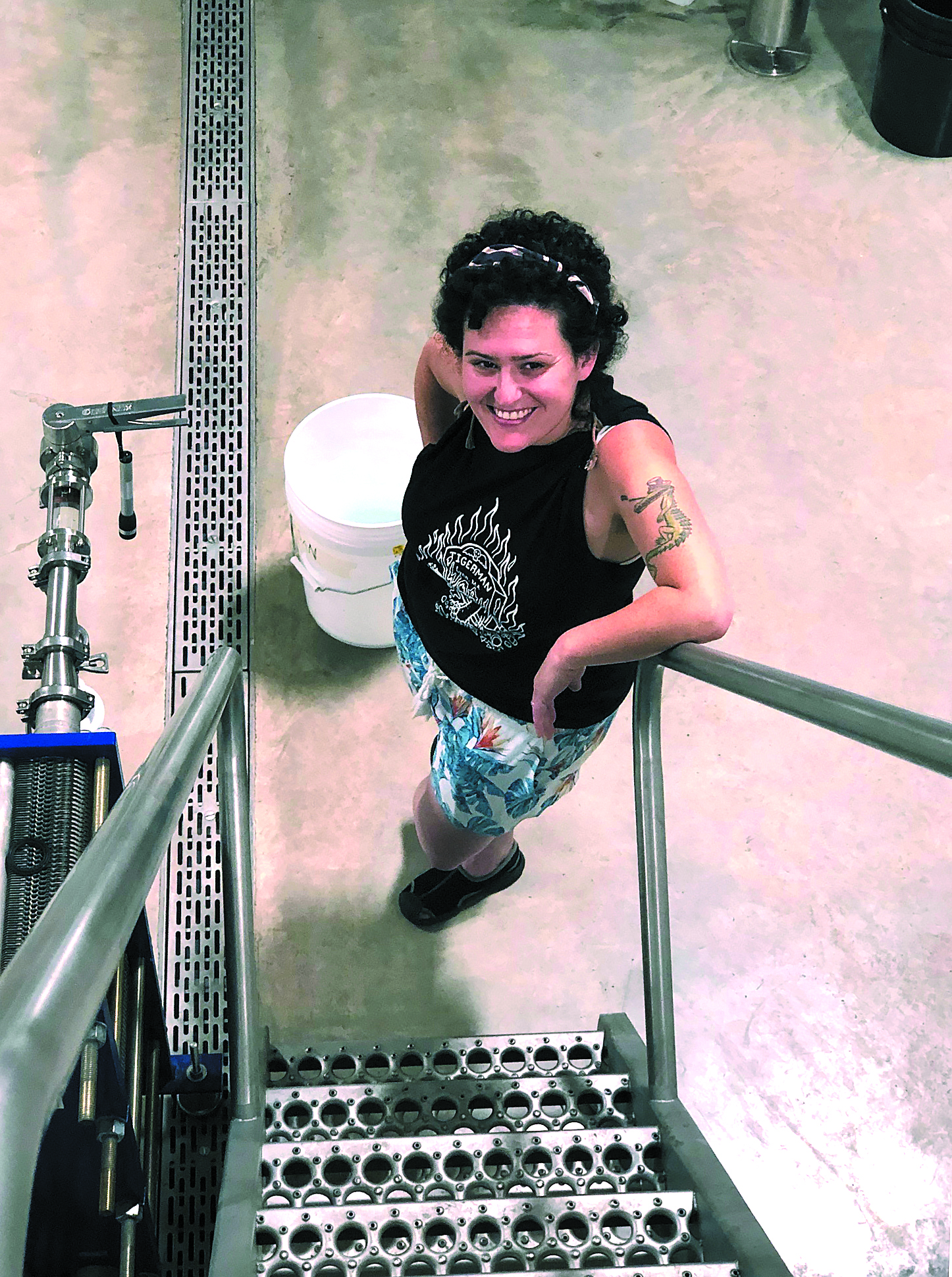 BREW AND CHEW  Miriam Rayevsky, former owner of the Rolling River Cafe, will operate the restaurant portion of the Brewery's business along with her father, Rob.  Art Steinhauer photo