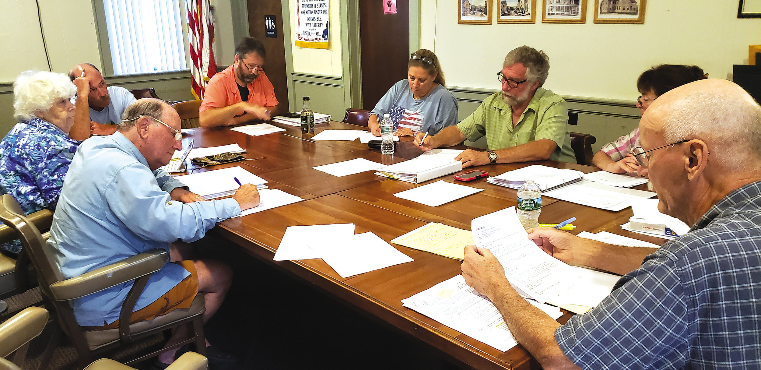 10-YEAR VISION : The Town of Rockland Comprehensive Plan Committee discusses the plan at a meeting in Town Hall in Livingston Manor on Aug. 14. The public is invited to comment on the plan at a 7 p.m. meeting on Sept. 18, also in Town Hall..  Amy Hines photo