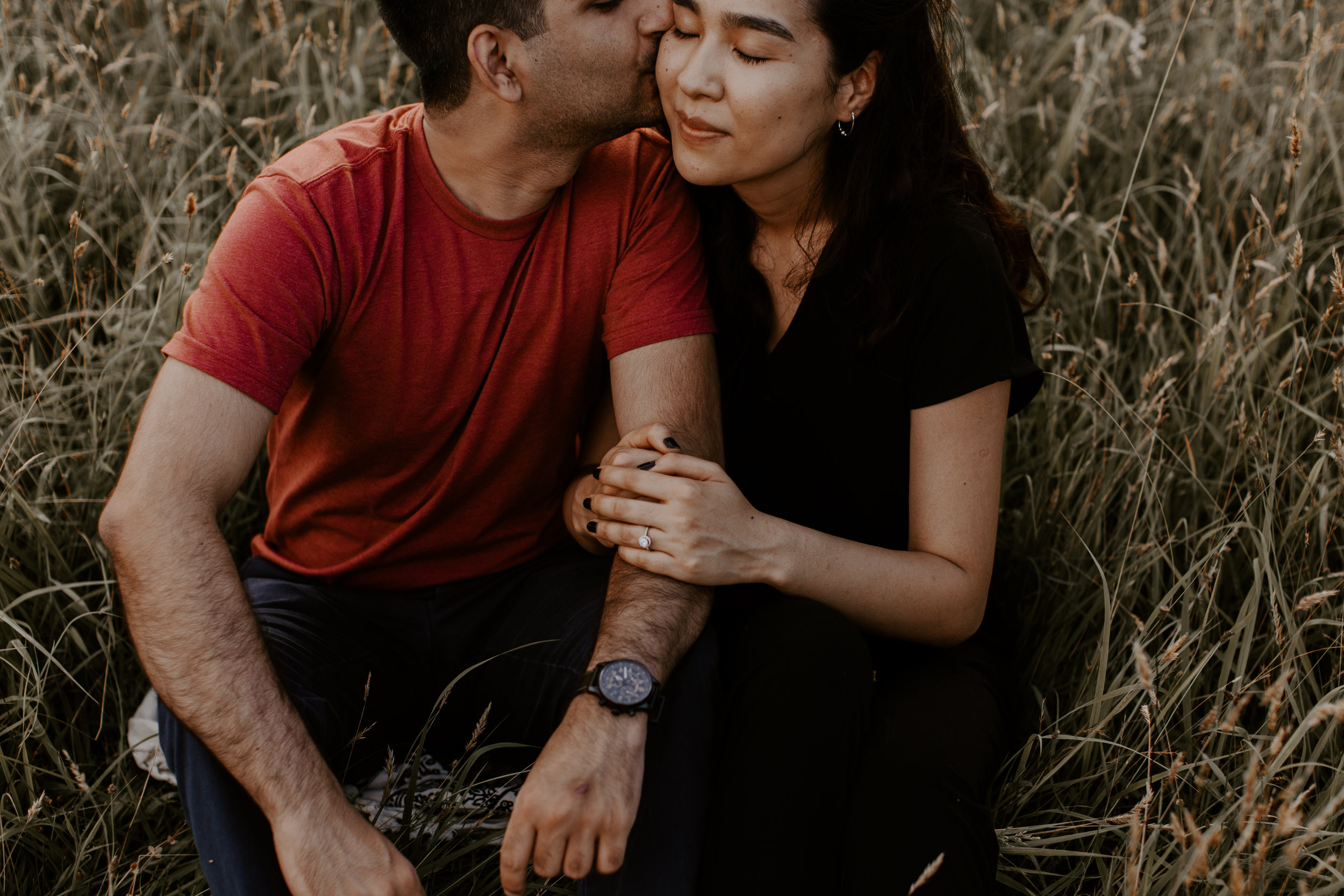 Golden Tone Engagement Session at Long Hunter State Park in Tennessee