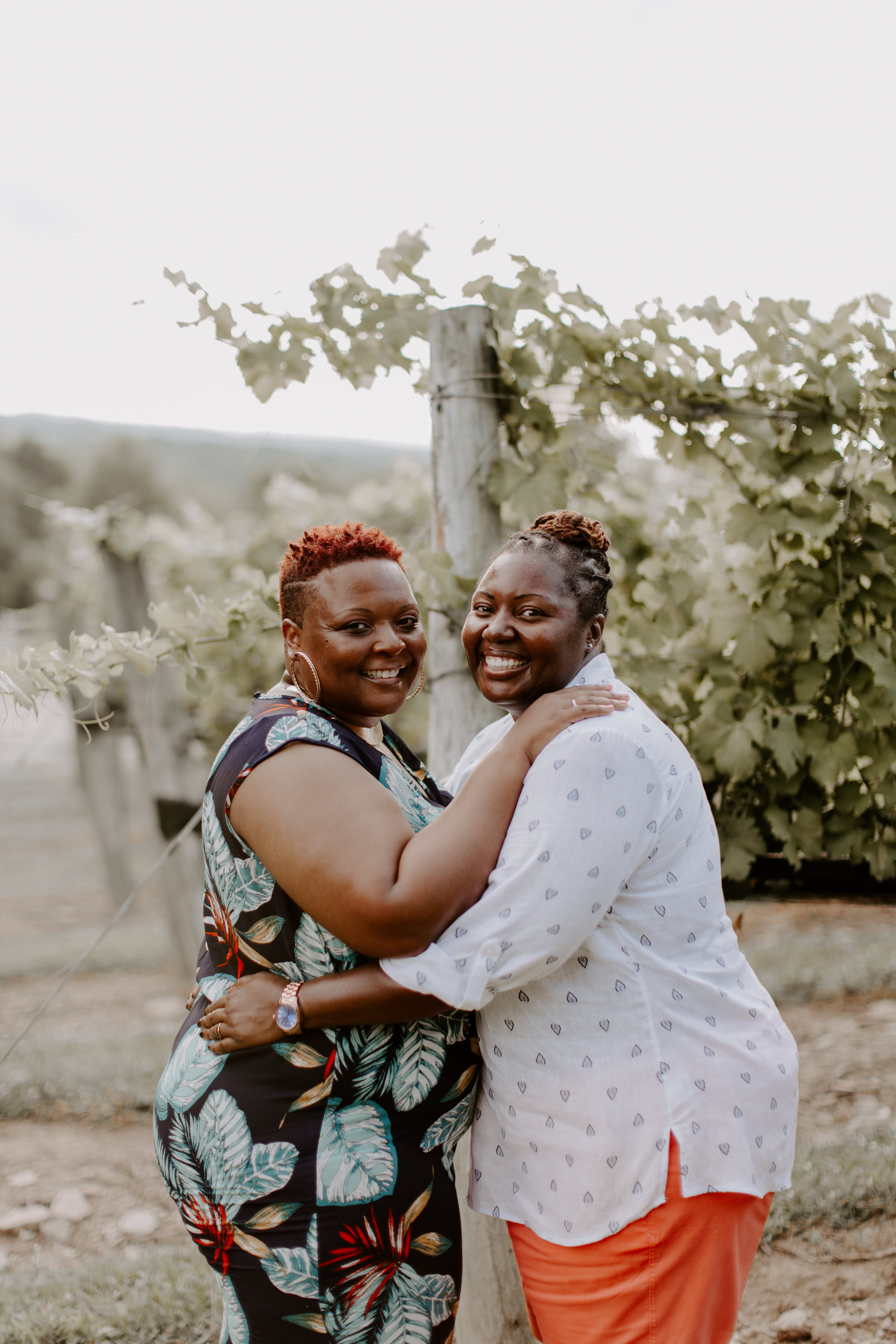 The happiest LGBTQ+ anniversary session at Arrington Vineyards in Franklin, Tennessee!
