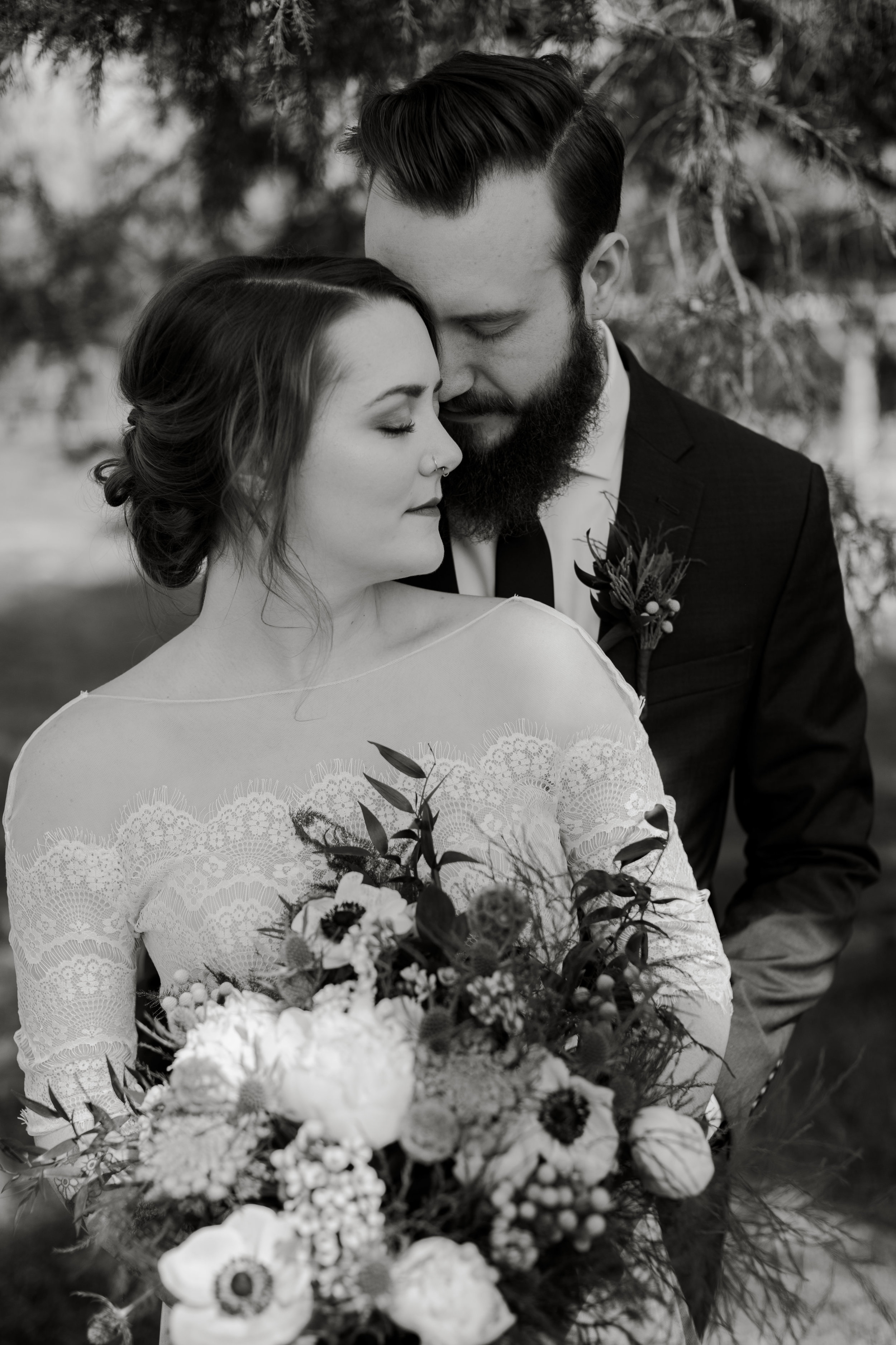 Moody and Edgy Couples Wedding Portraits