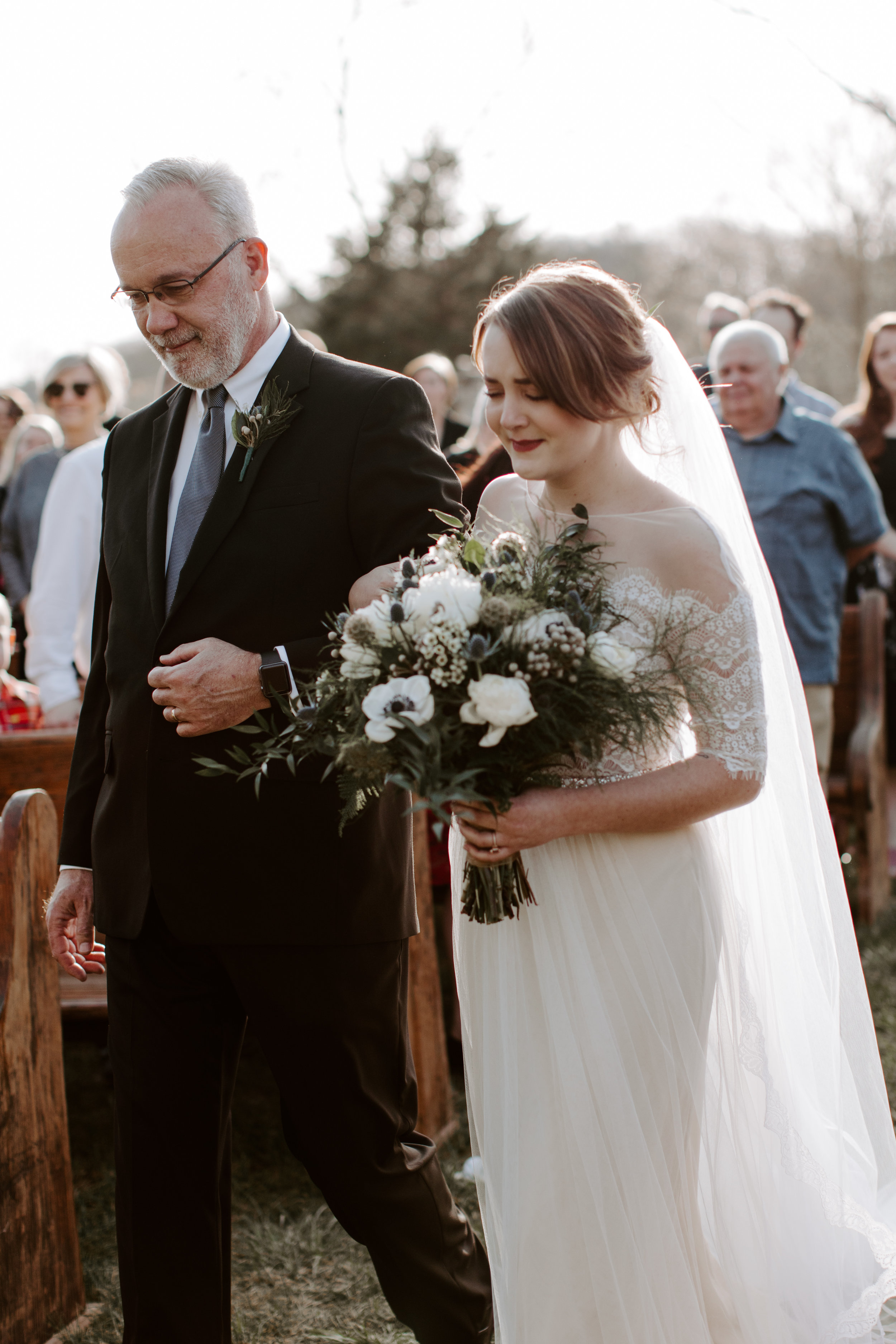 Emotional Ceremony Pictures at Wedding in Nashville, Tennessee