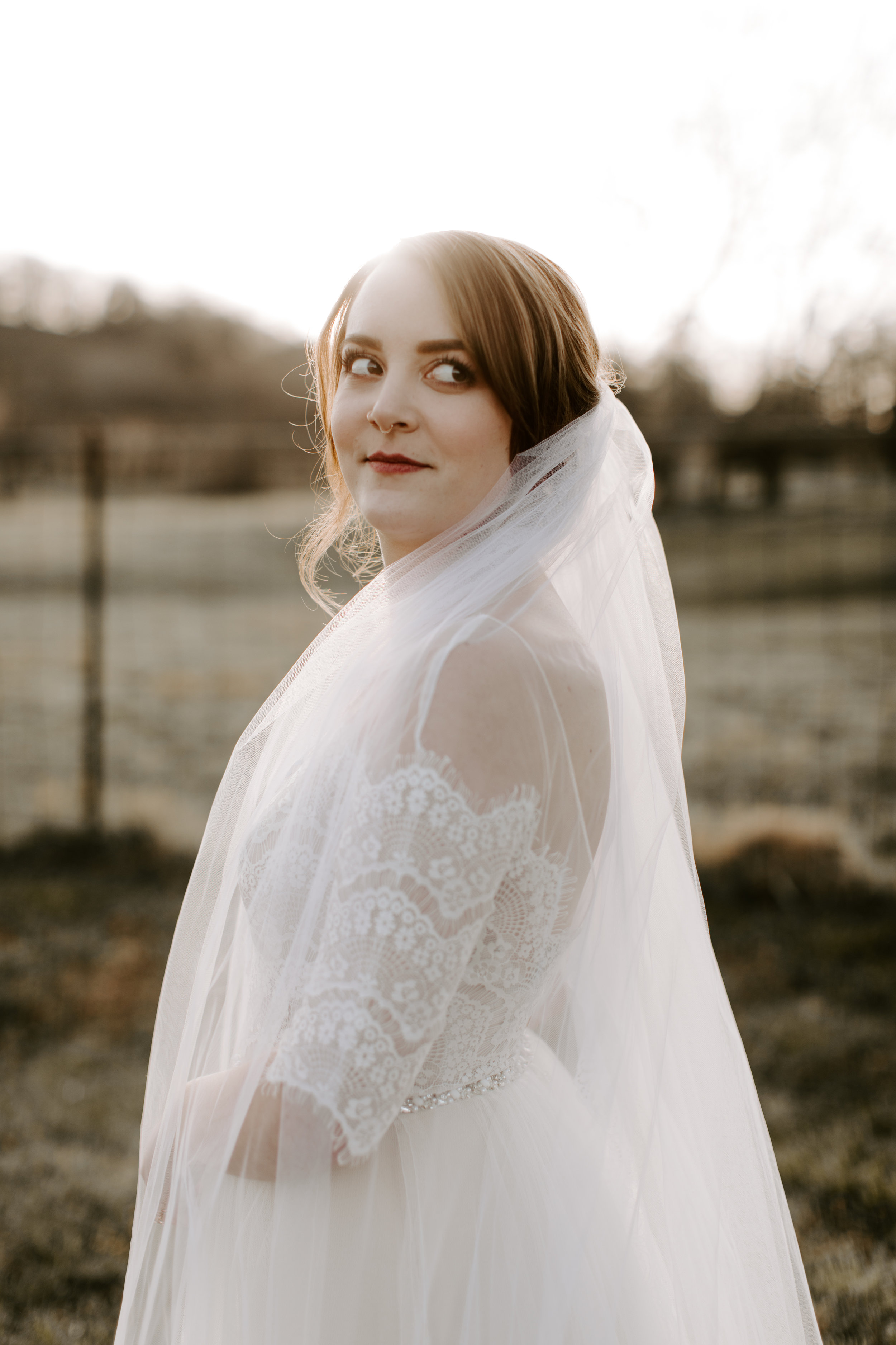 Sunset Veil Flowing In the Wind Portraits