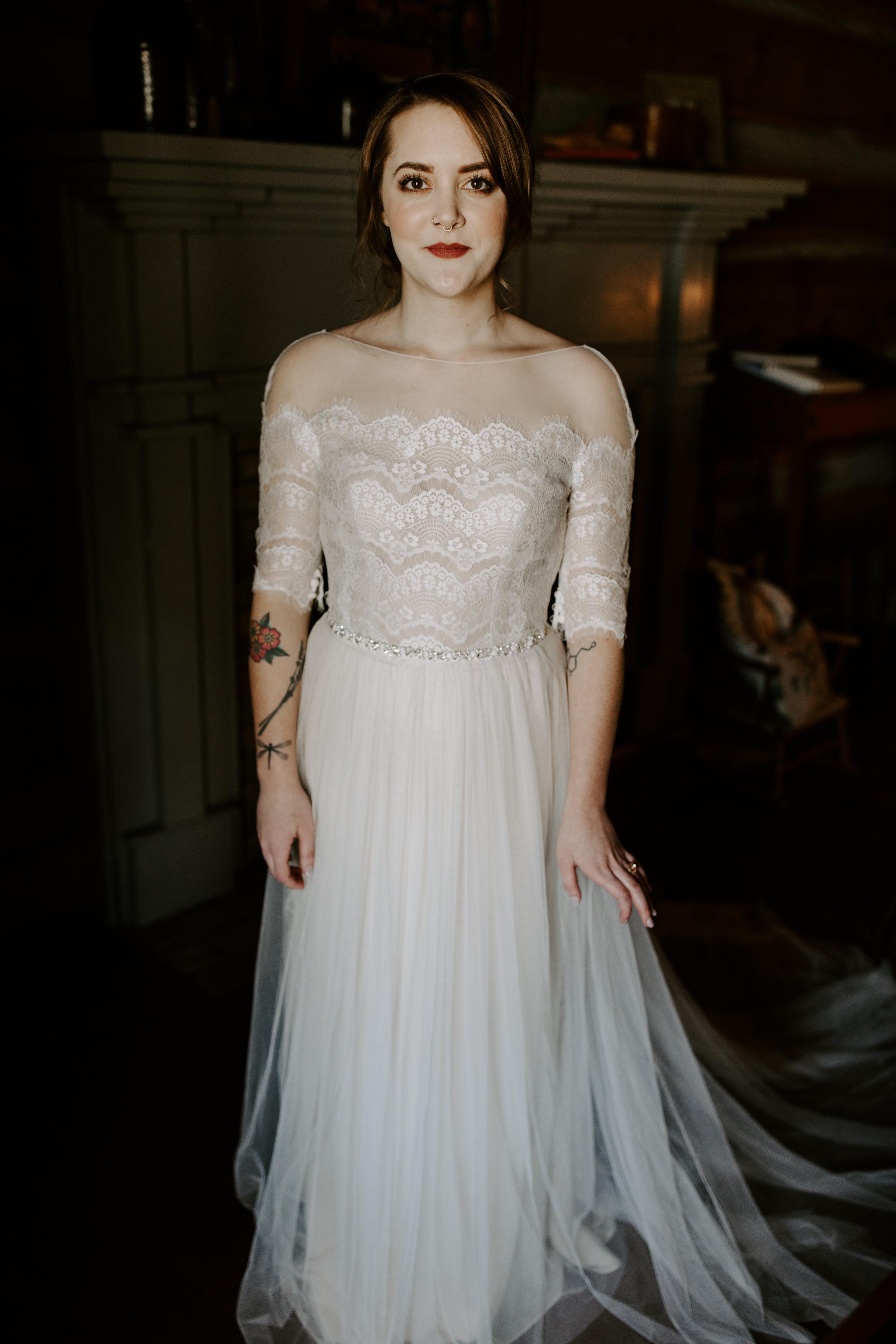 Edgy and Moody Bridal Portraits