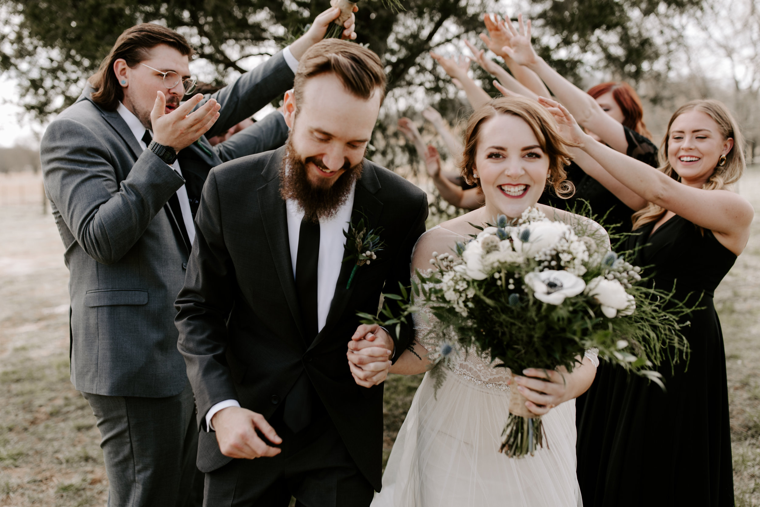 Moody and Edgy Wedding Party Portraits