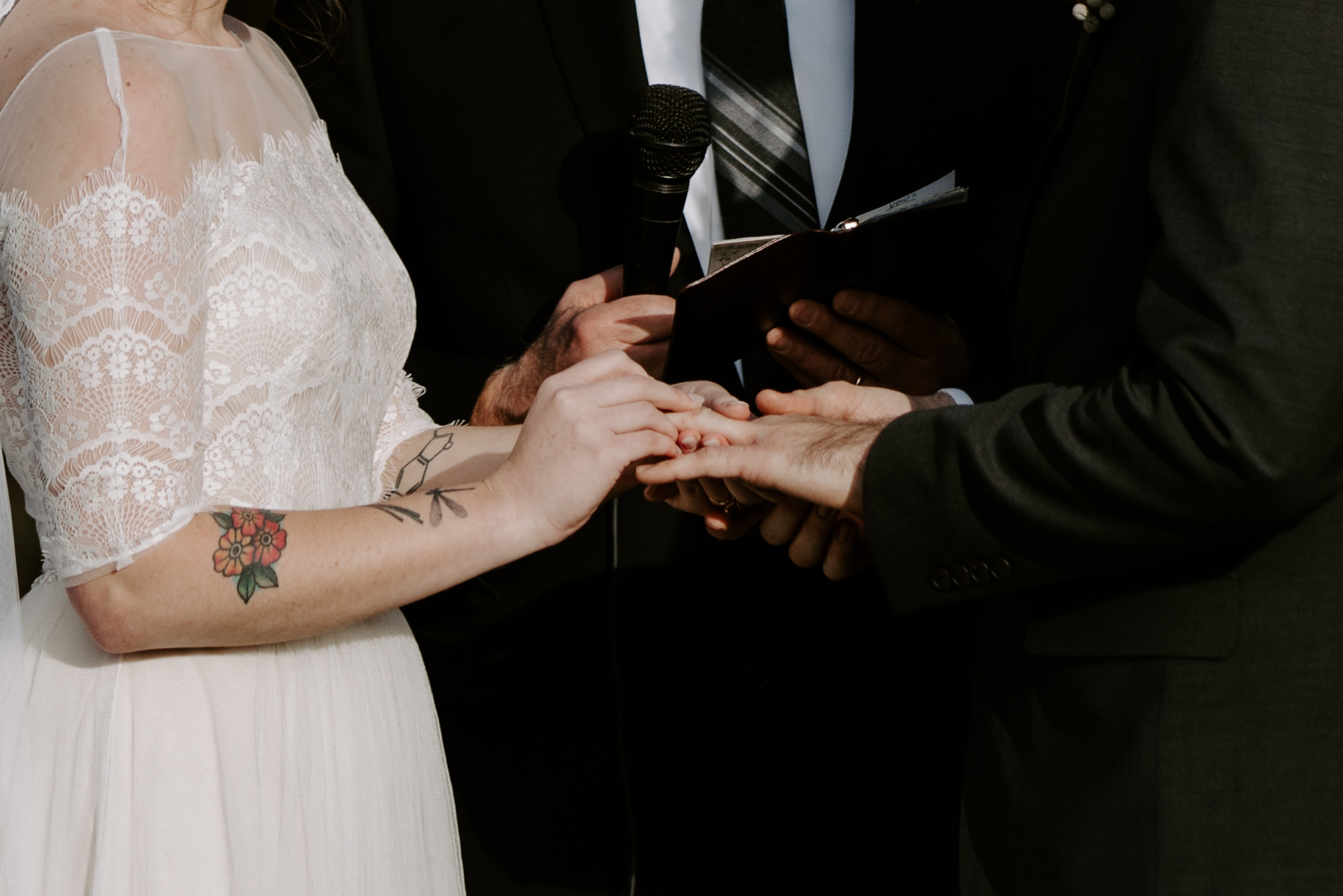 Close up Ceremony Pictures or ring exchange