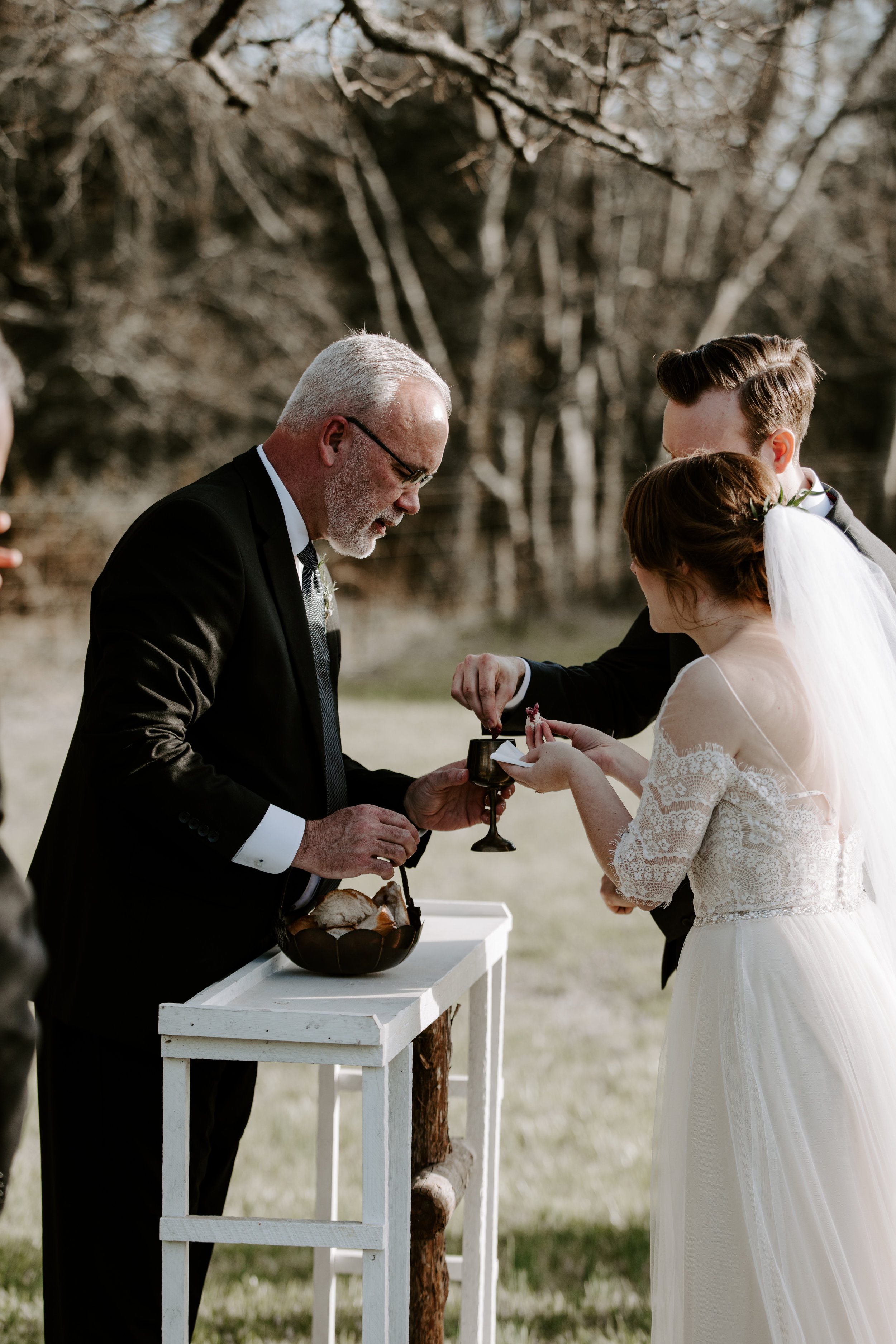 Emotional Wedding Ceremony Communion Pictures