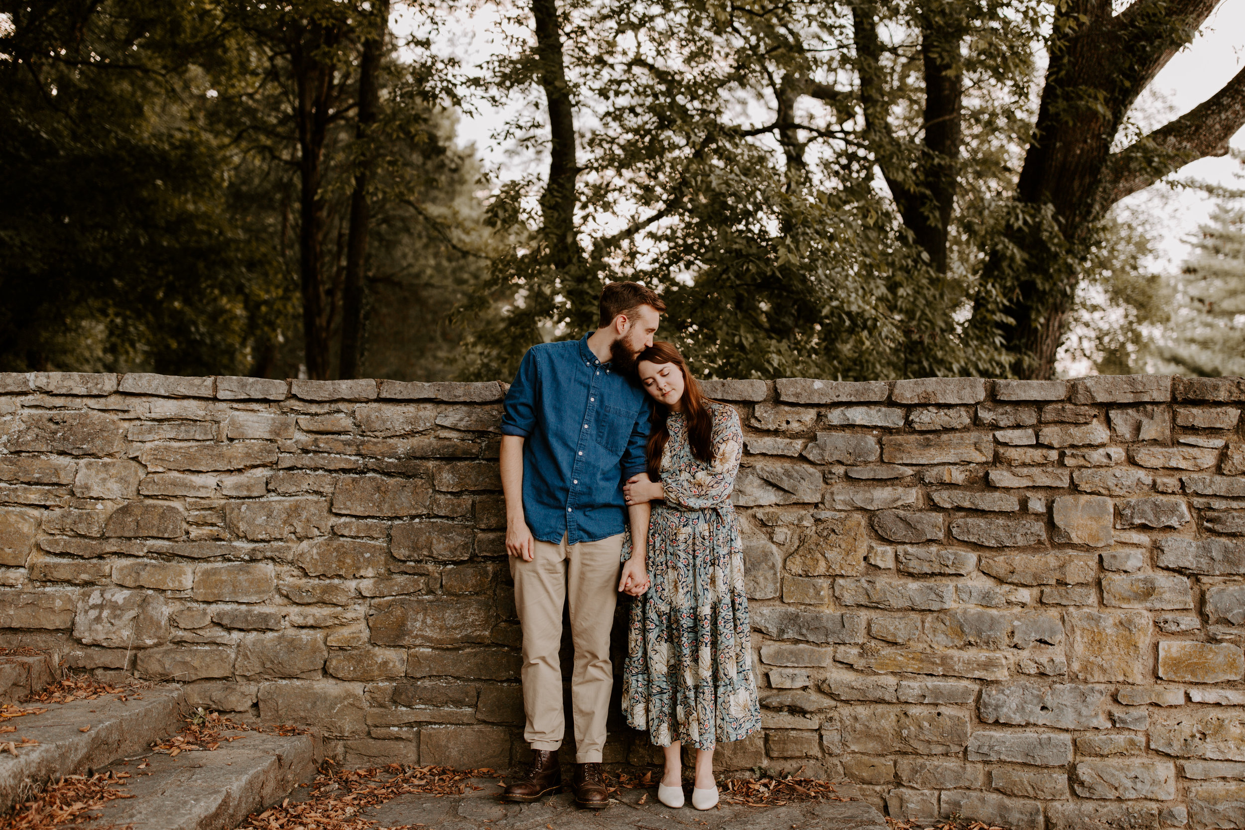 Warm Toned couples session at Percy Warner Park in Nashville, Tennessee