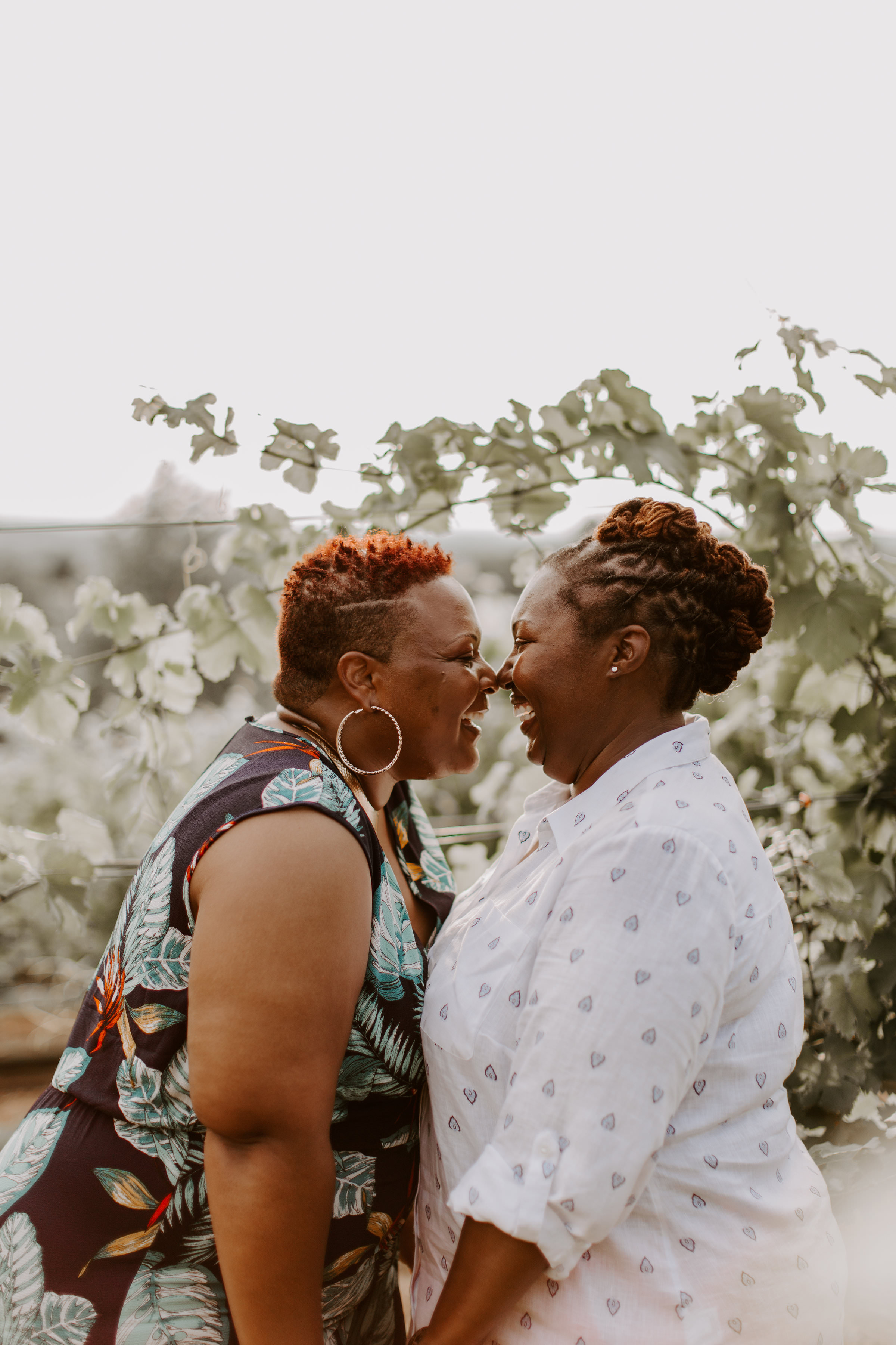 Beautiful golden hour session at Arrington Vineyards featuring LGBTQ+ couple