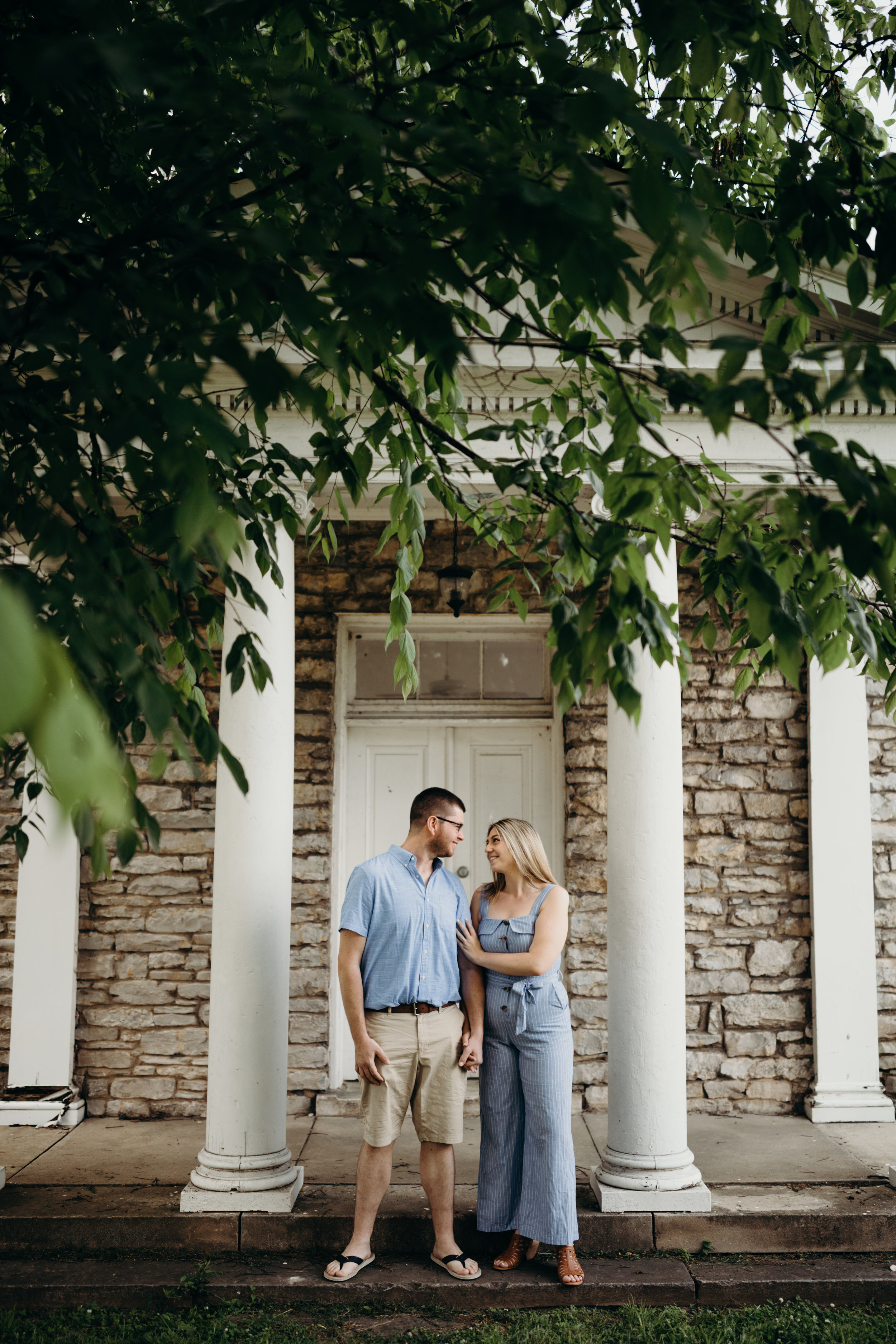 Outdoorsy engagement session at Sevier Park by 12th South in Nashville, Tennessee