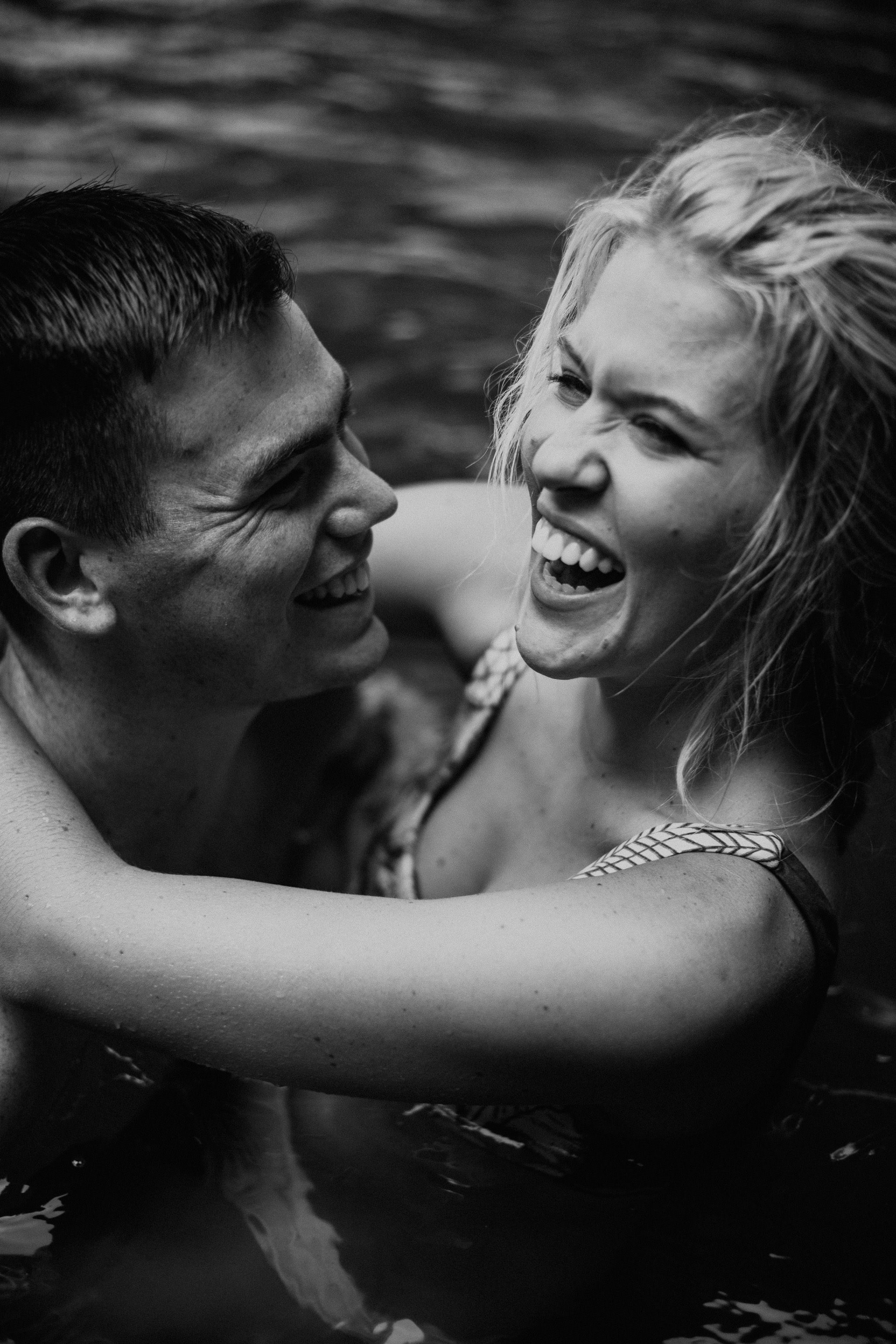 Waterfall Adventure Engagement Session by Nashville Photographer, Allie Chambers