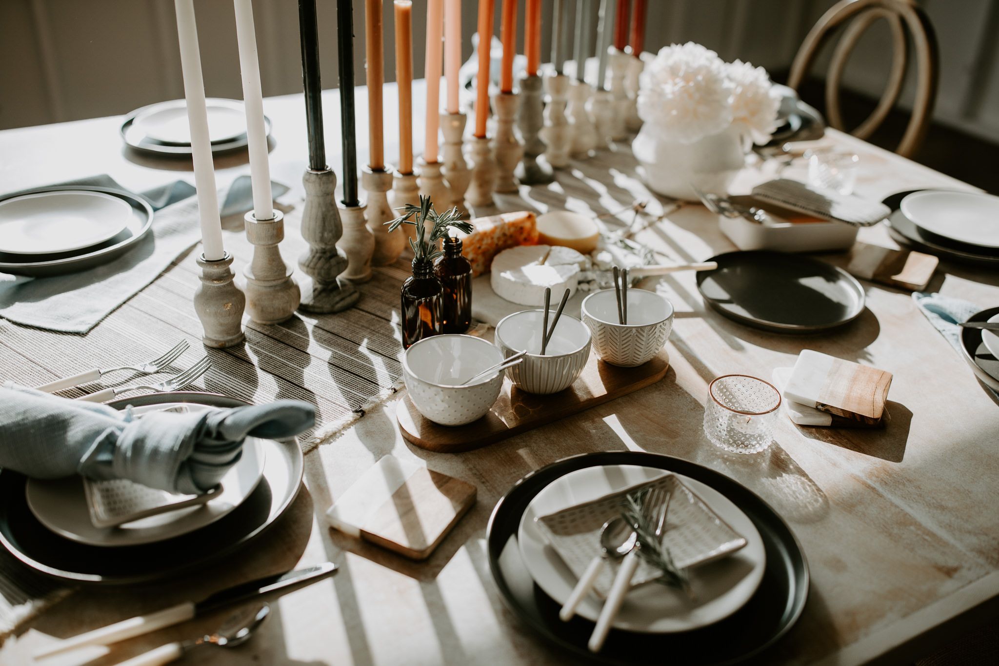 Natural and casual wedding table set