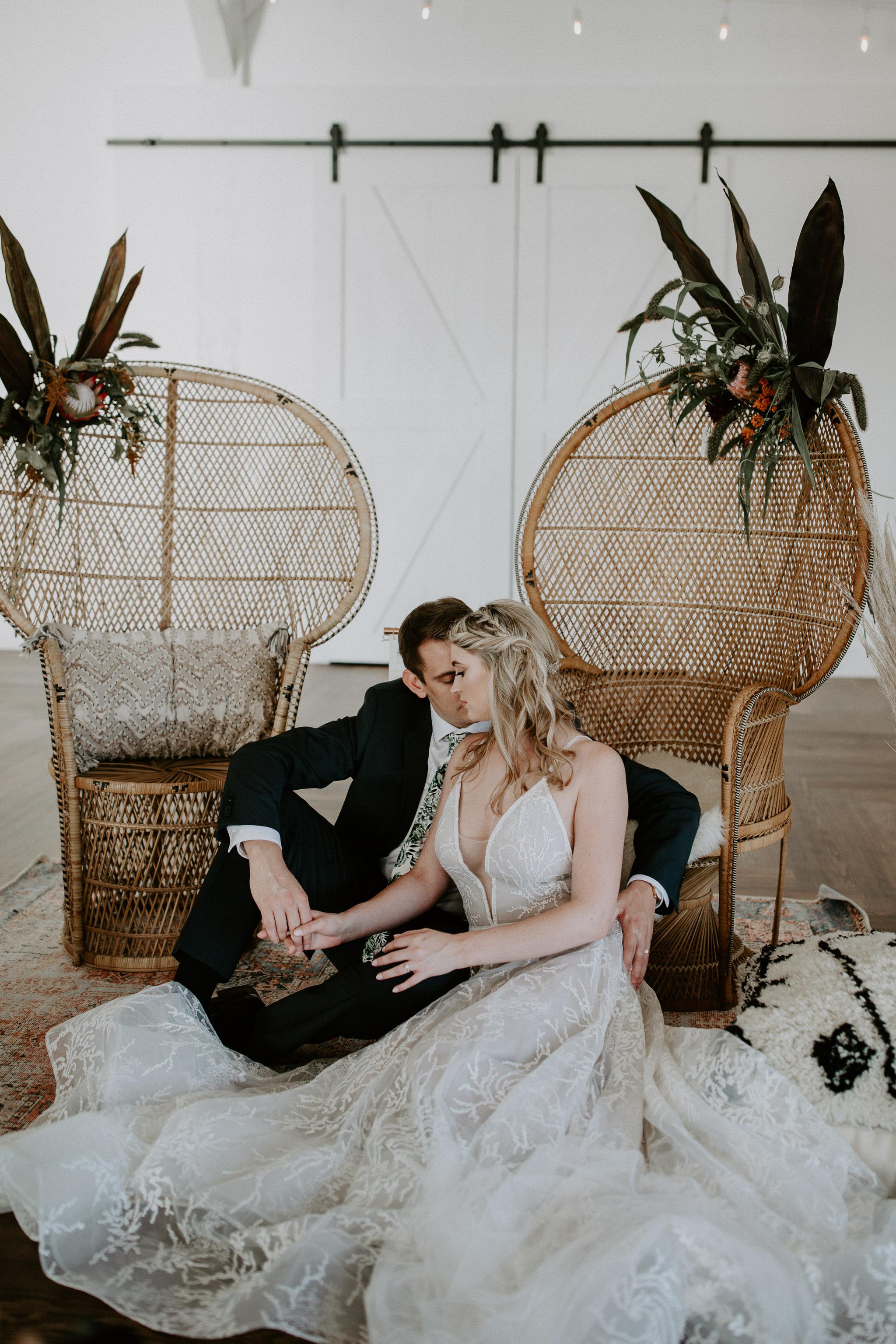Wedding peacock chair and modern design