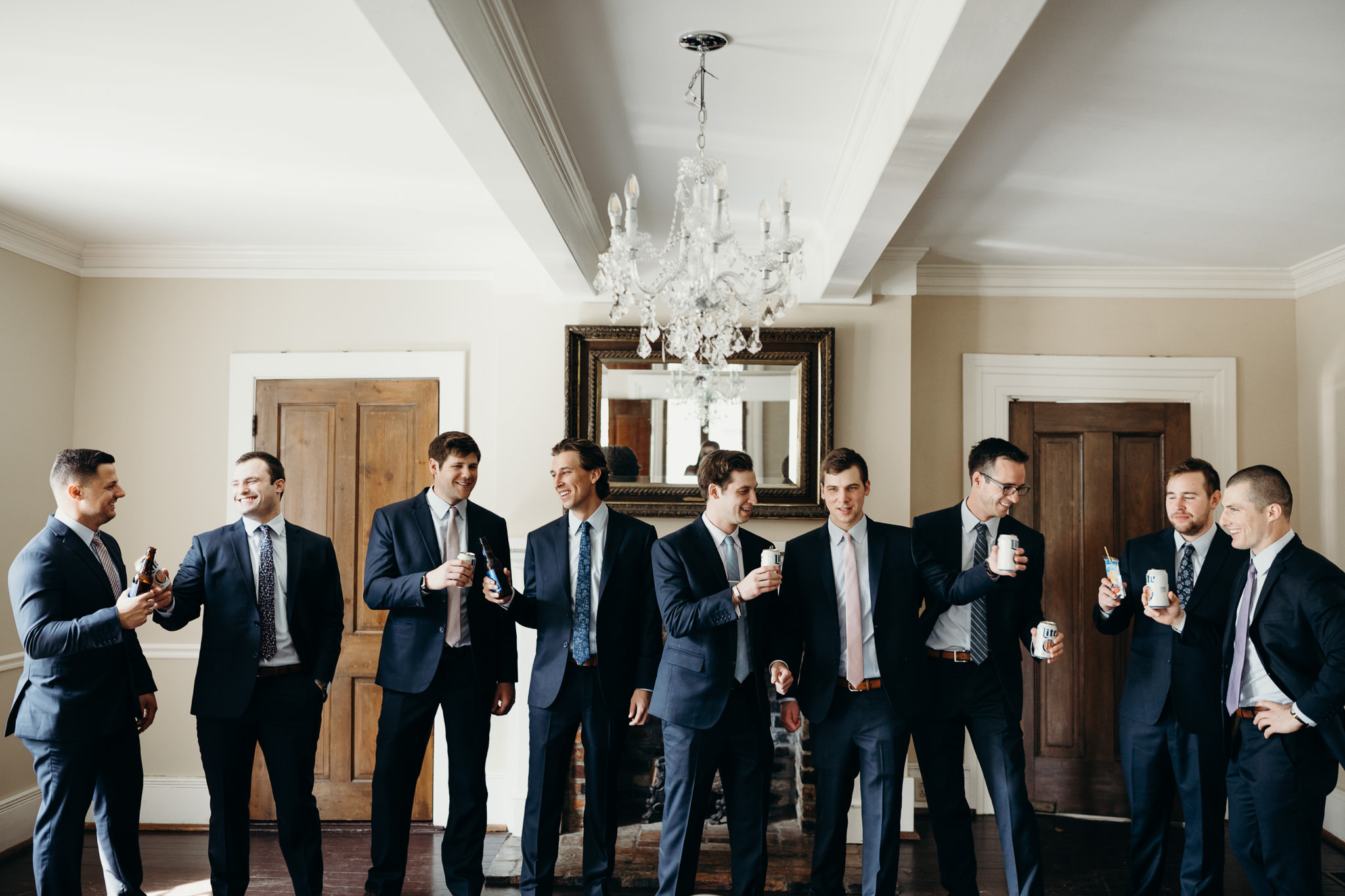 Groomsmen portraits at Cool Springs house In Brentwood, Tennessee