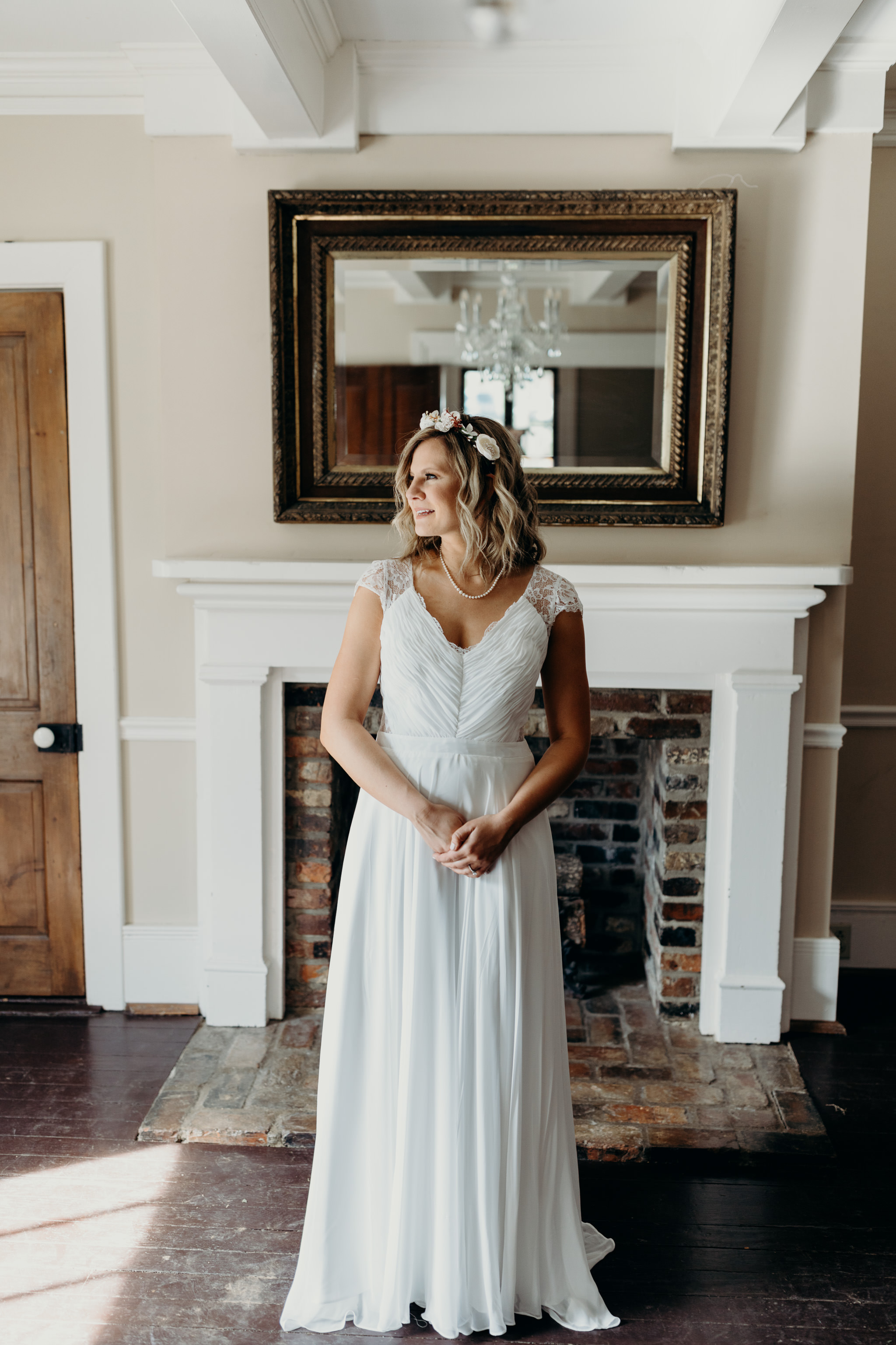 Bridal Portraits at Mansion wedding at The Cool Springs House in Brentwood, Tennessee