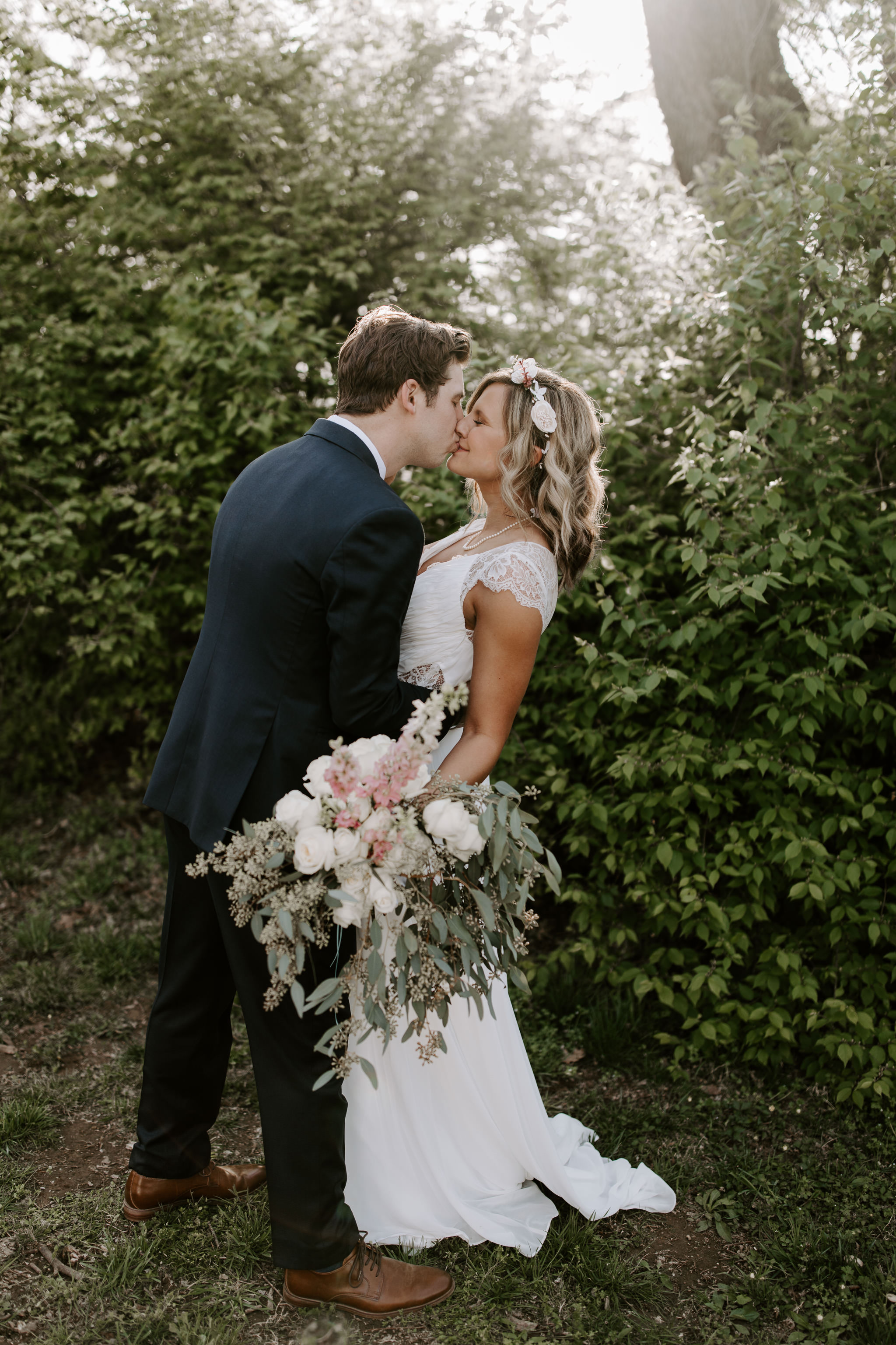 Bride and Groom wedding day portraits at Cool Springs House in Brentwood, Tennessee