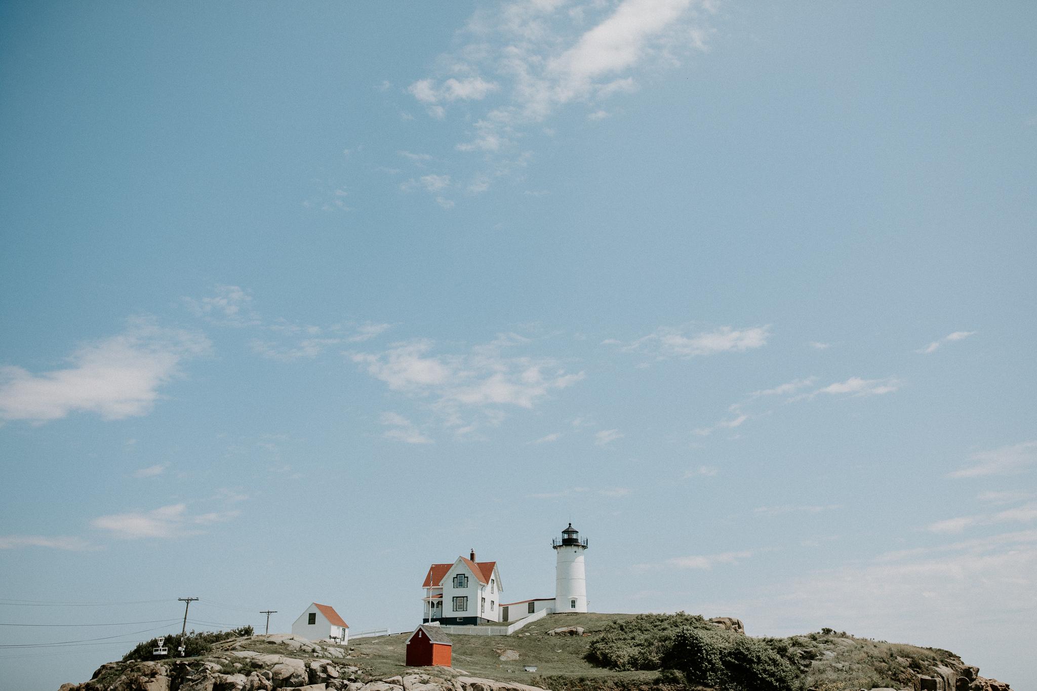 York, Maine Lighthouse by photographer, Allie Chambers