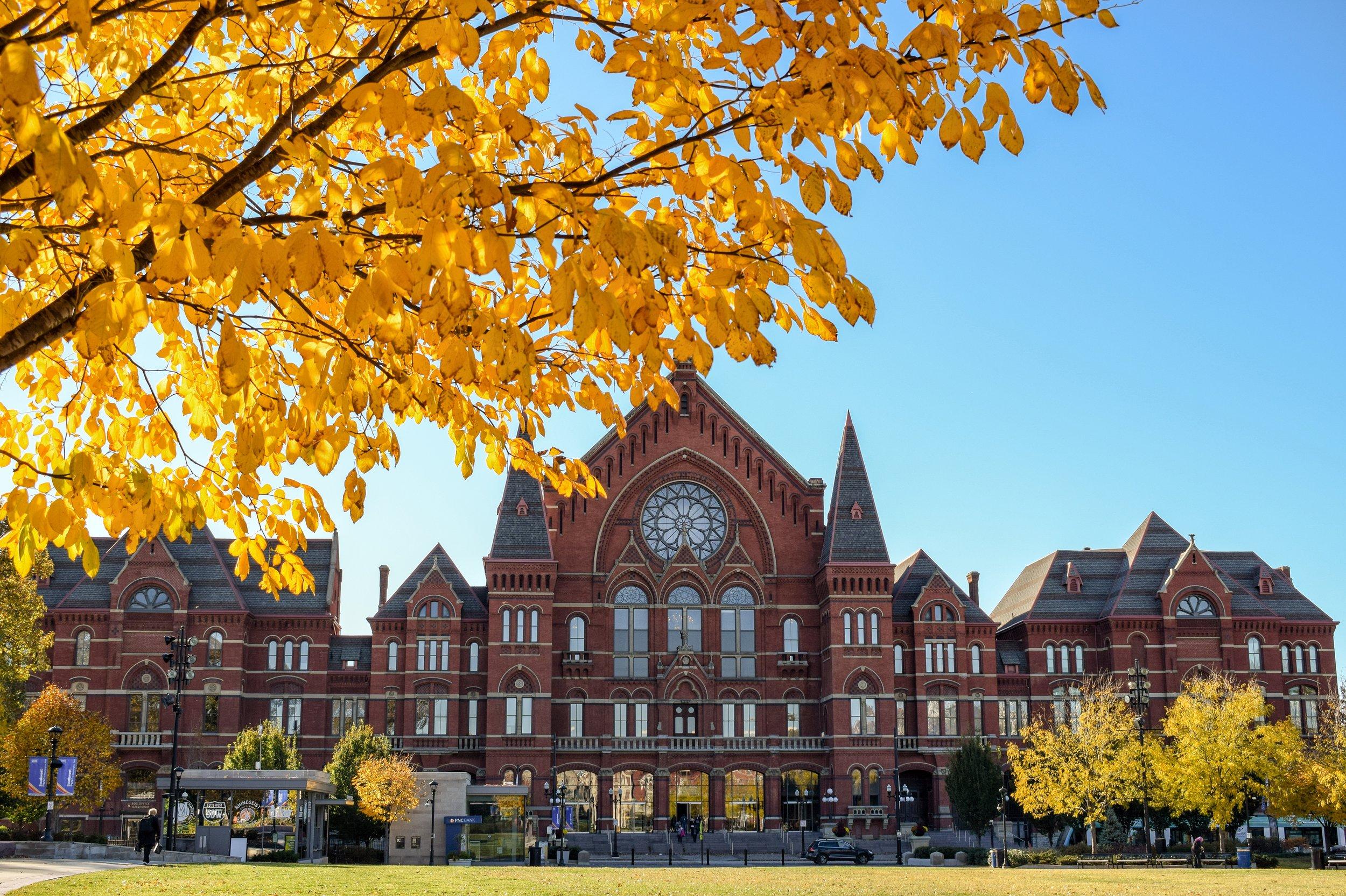 Listen to the sounds of the  Cincinnati Symphony Orchestra ,  Cincinnati Opera , and more inside historic  Music Hall .