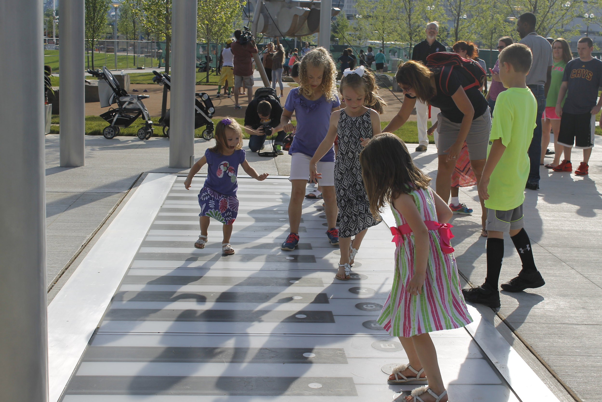 """Play like Tom Hanks in """"Big"""" on the giant foot piano at  Smale Riverfront Park ."""