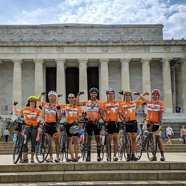 Day 48 : What a day! The sun came out as we rode into DC and met with our beneficiary RCAP to talk about the importance of their work. Thank you Farhaad, Dan, Steve, and Jess for the laughs, pushing us past our limits, and reminding us why we ride for world health.