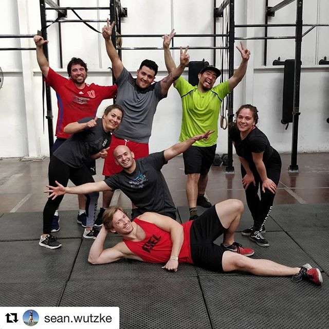 Coach @sean.wutzke fitnessing and making friends at @crossfit_santiago on his vacation in Chile!  Keep having a blast, we are excited to hear all about your trip when you get back!