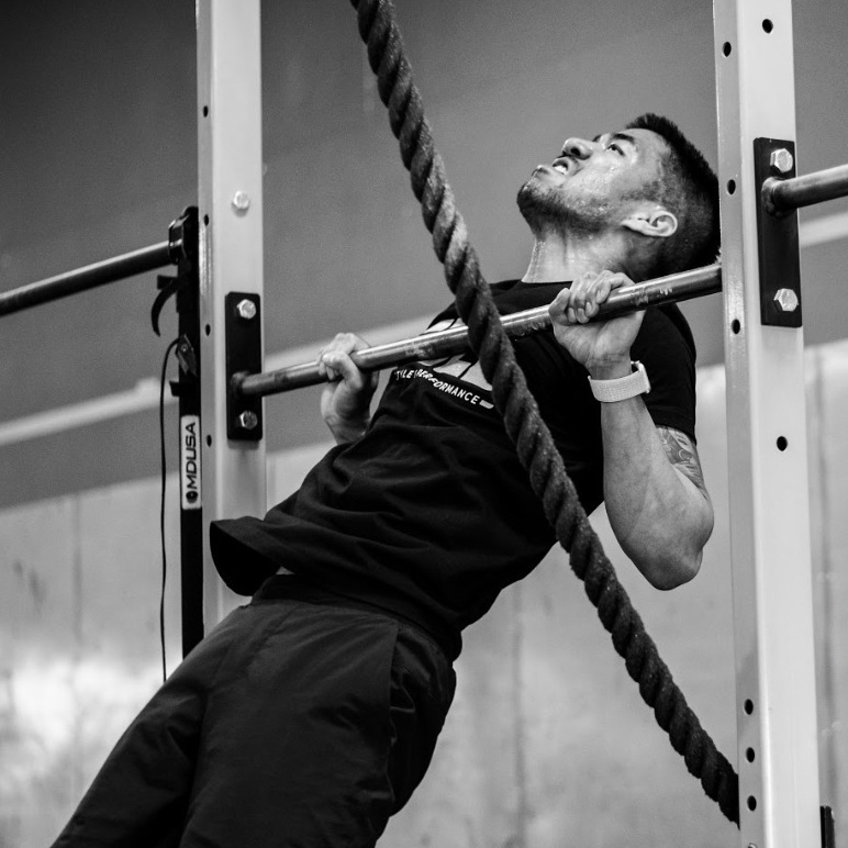 """Brian - """"My experience at Fuel has been exceptional, I came in with no other expectation but to keep an open mind and try my best at whatever the WOD (workout of the Day) was. I've been blown away by the community of athletes that attend the gym and help to provide a positive atmosphere. I've learned how to execute total body lifts safely including a barbell snatch, cleans and jerks. I've also picked up on the lingo specific to Crossfit."""""""