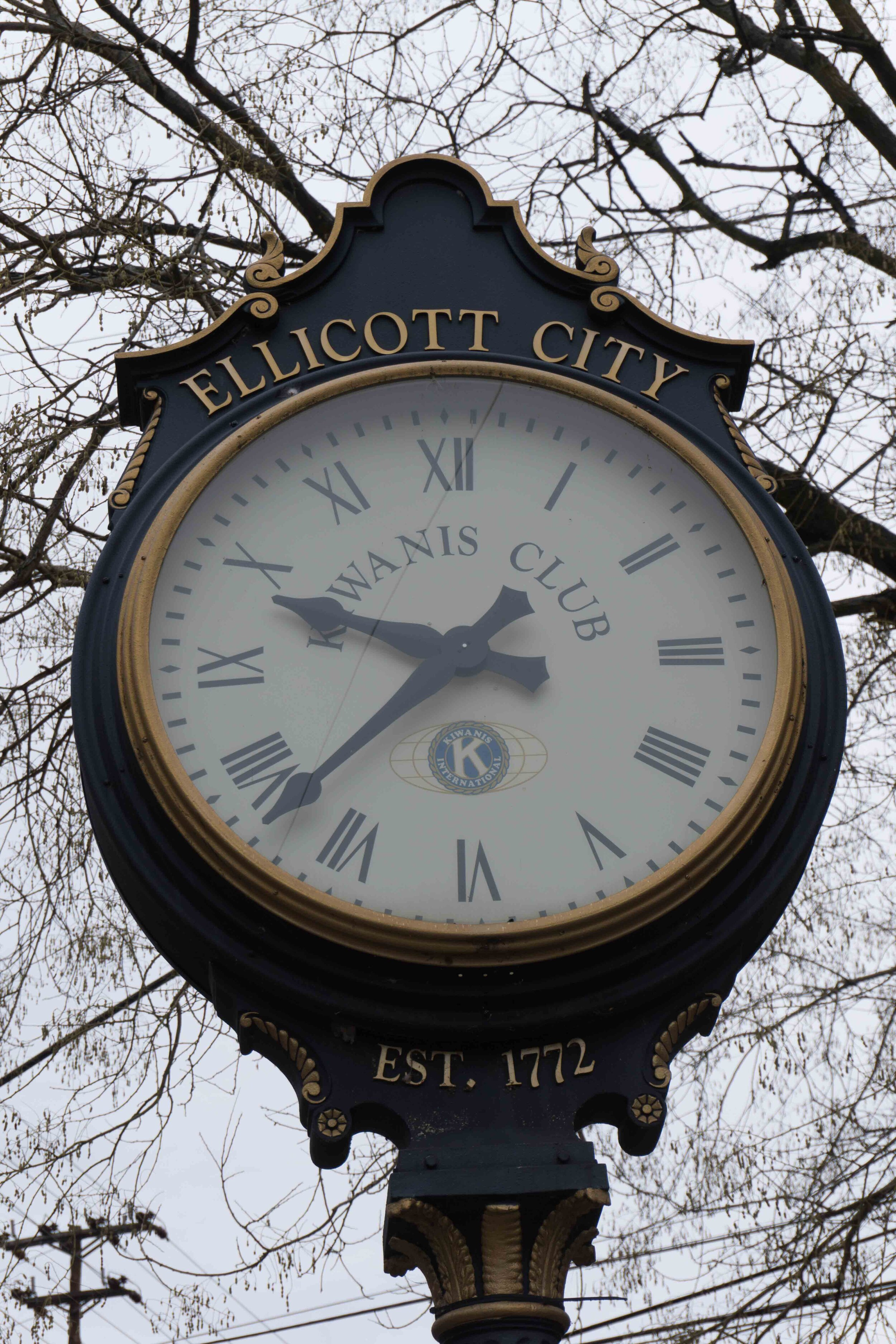 Ellicott City Clock, 12/28/2015