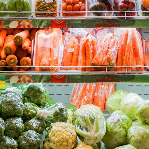 Pre-packaged produce not only creates unnecessary food loss during the production process, and costs more for the consumers compared to whole vegetable and fruits.