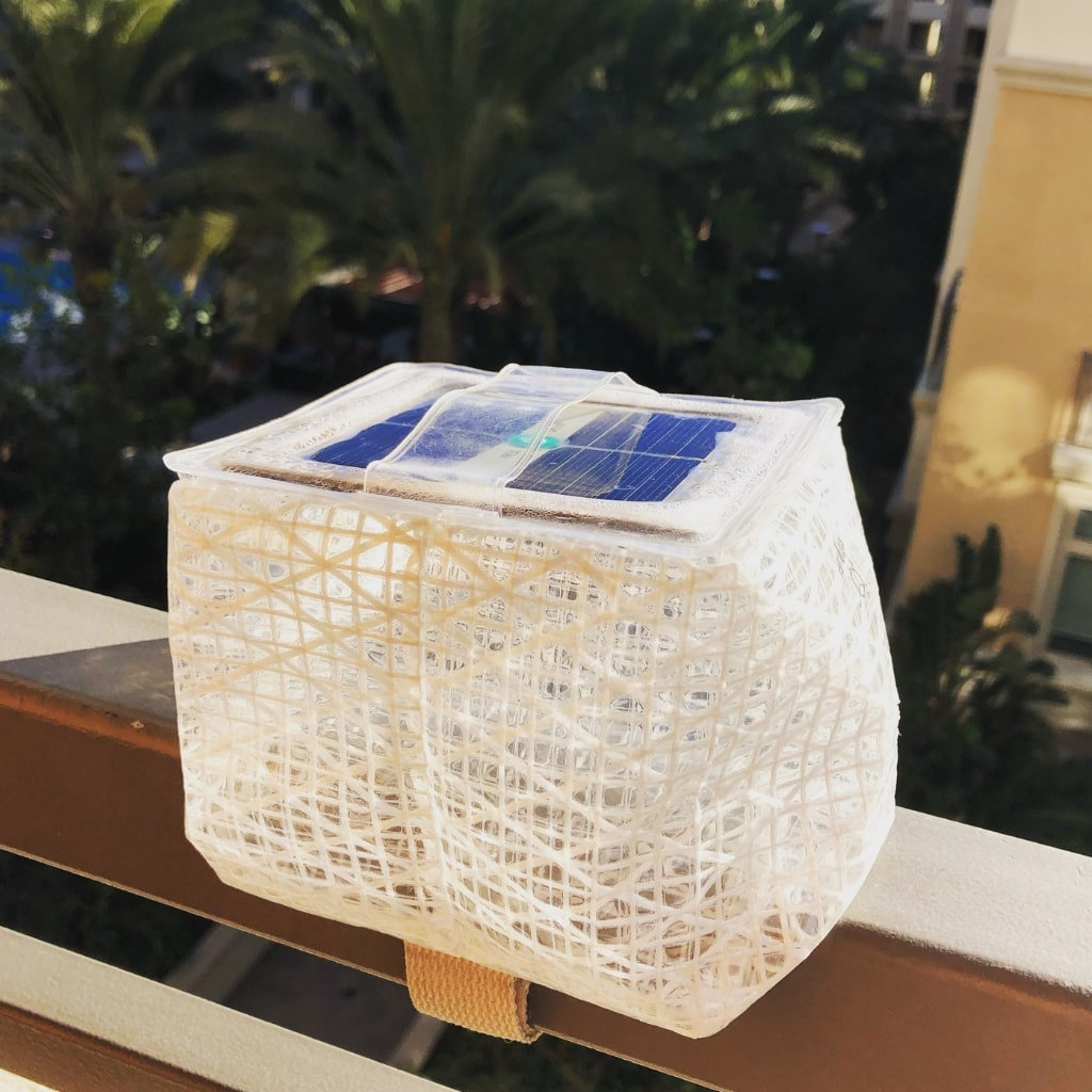 This solar puff by Solight Design guides me throughout my house at night.