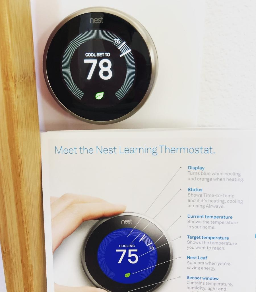 Install a Thermostat (NEST Learning Thermostat at my home) and save costs on your energy bill.