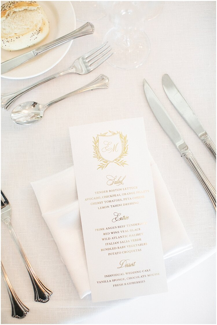 Gold Foil Custom Wedding Logo Menu.jpg