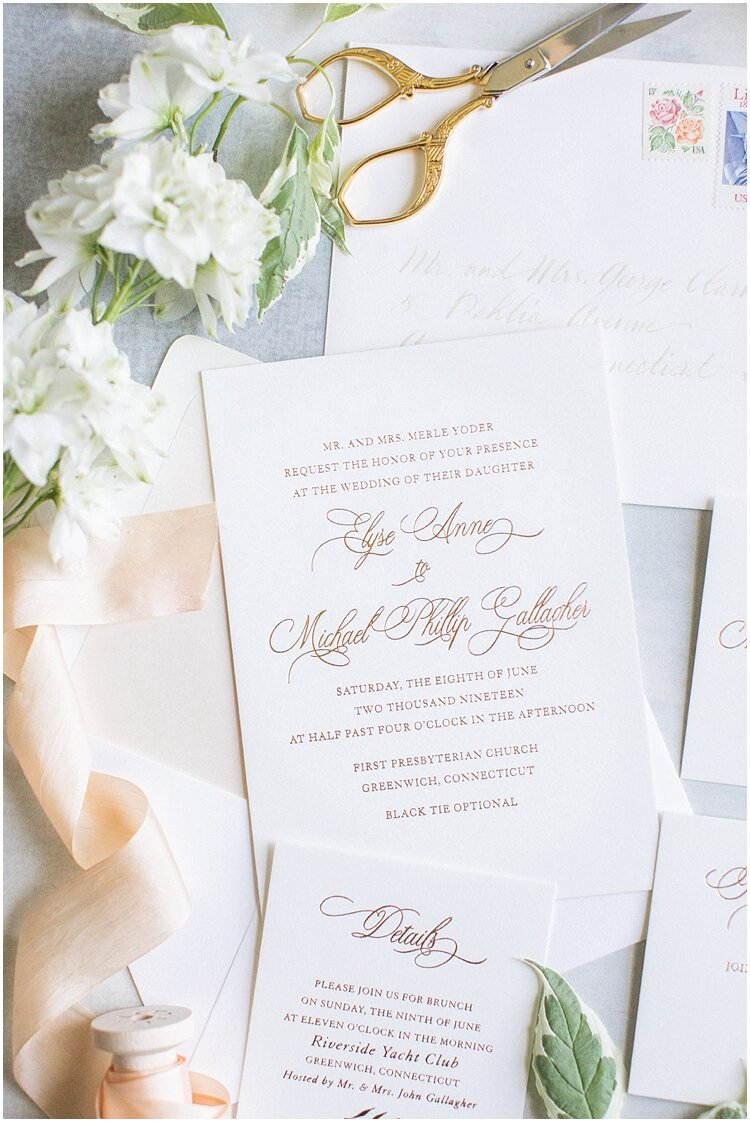 Greenwich Country Club Custom Gold Foil Invitation.jpg