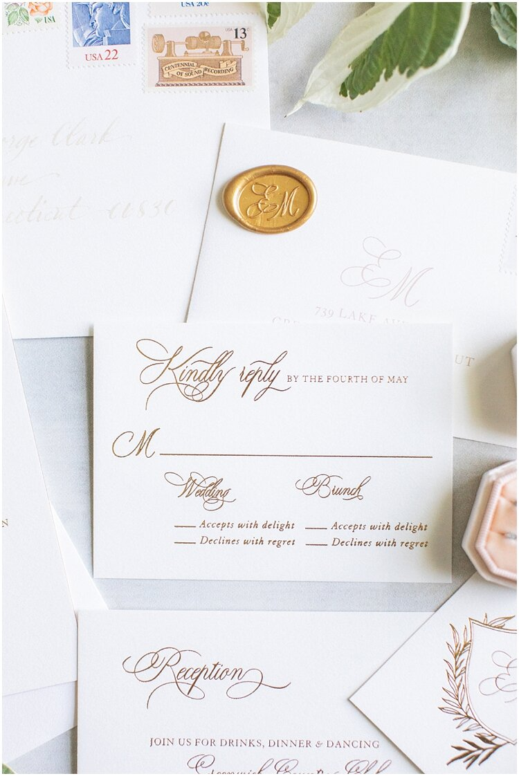 Greenwich Country Club Wax Seal Wedding Invitation.jpg