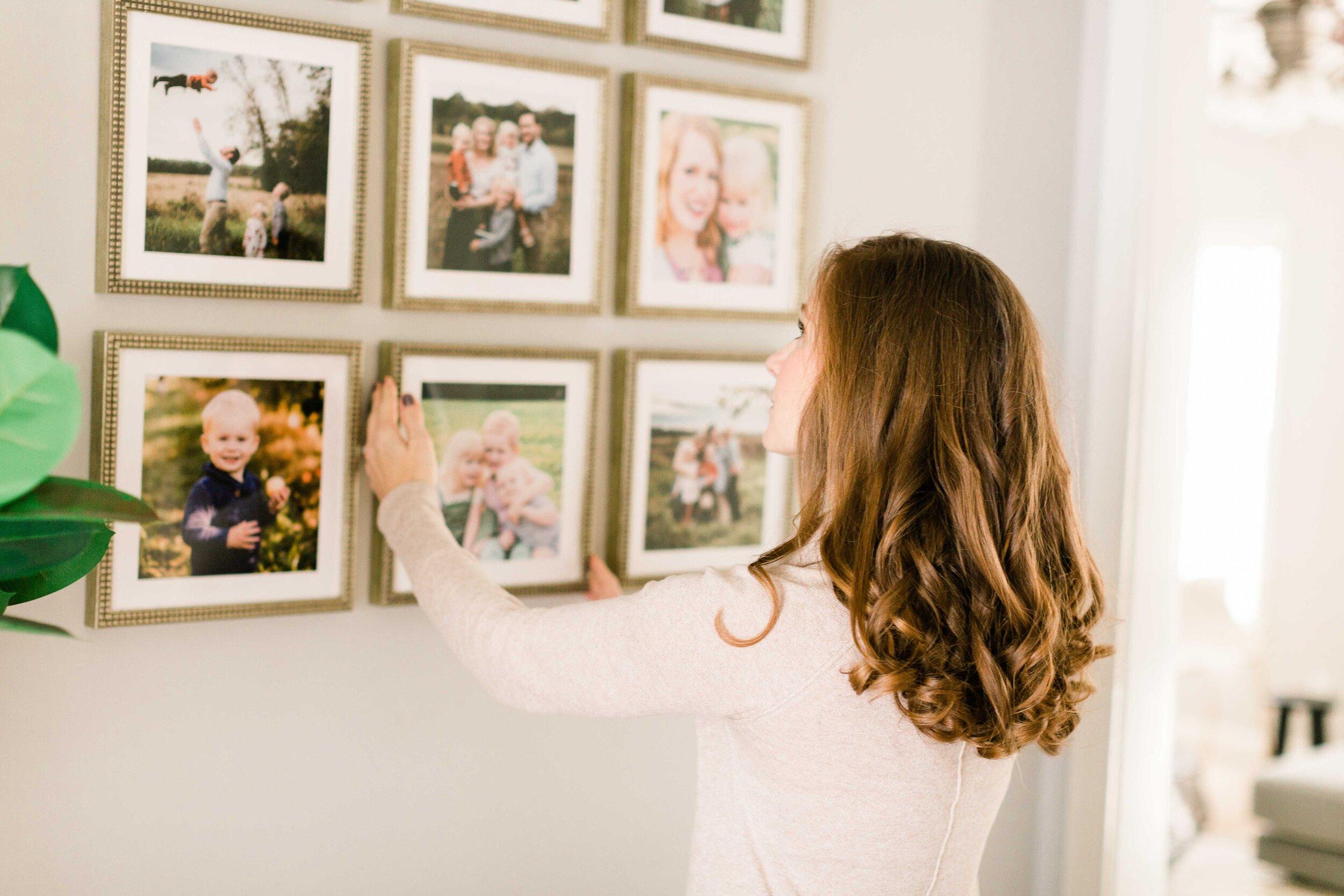 4 Stylish Ways to Hang Family Photos — Kelly McPhail Photography